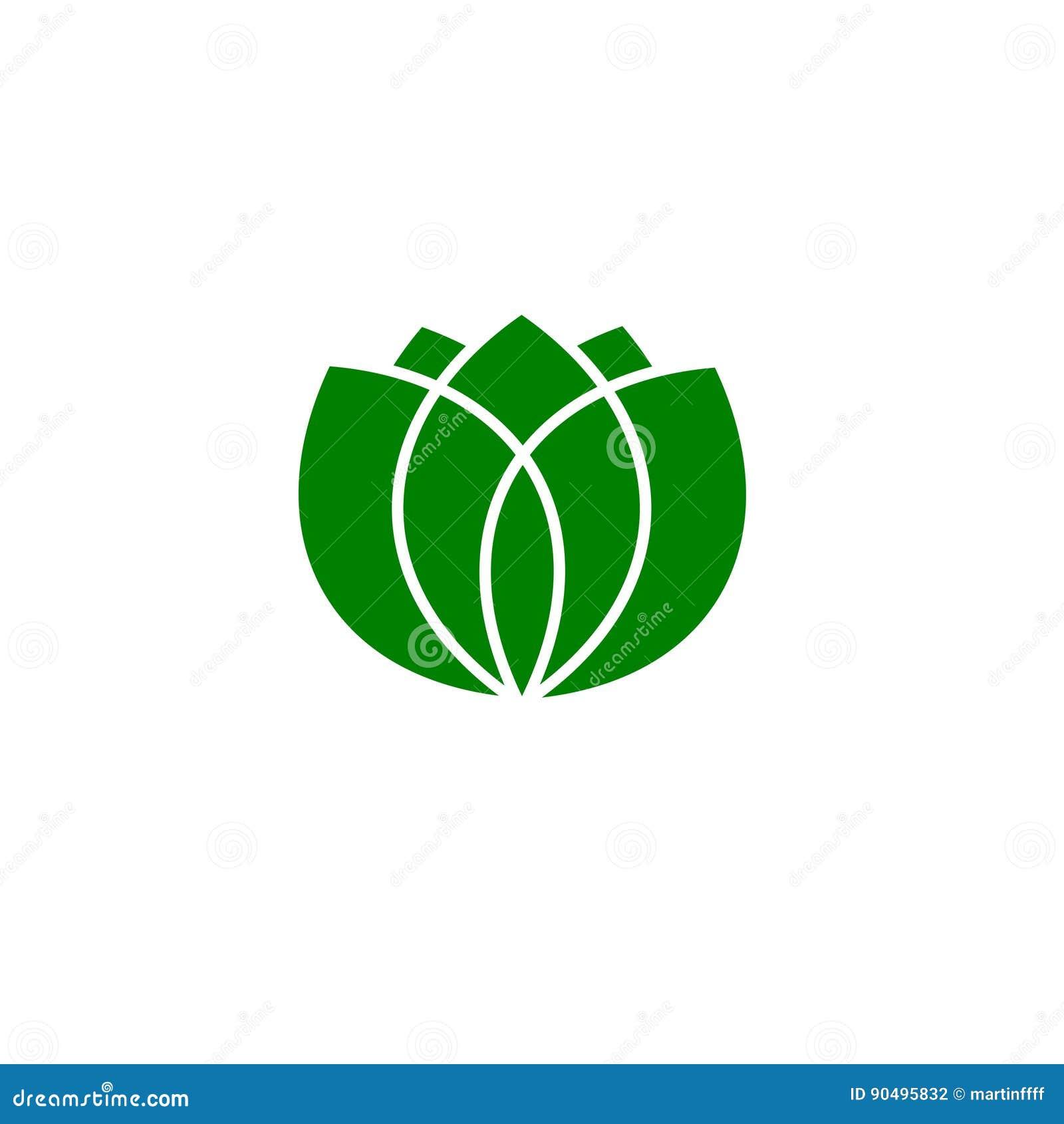Green leaves logo, vector