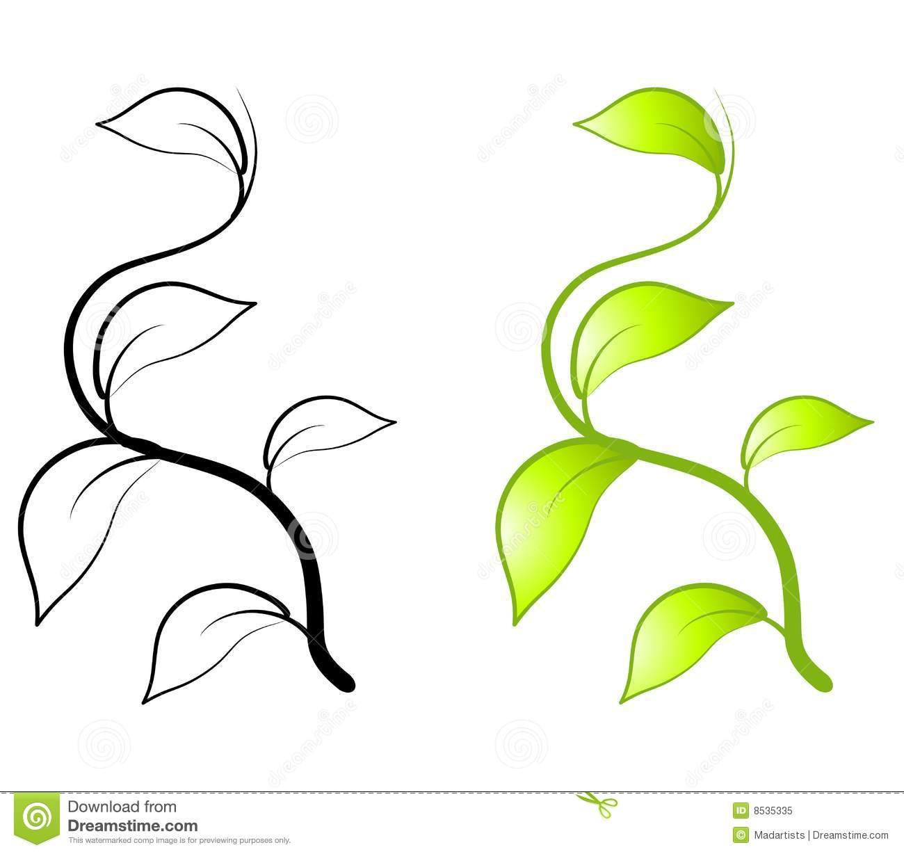 green leaves vine clip art stock illustration illustration of rh dreamstime com free vine clipart borders free vine clipart images