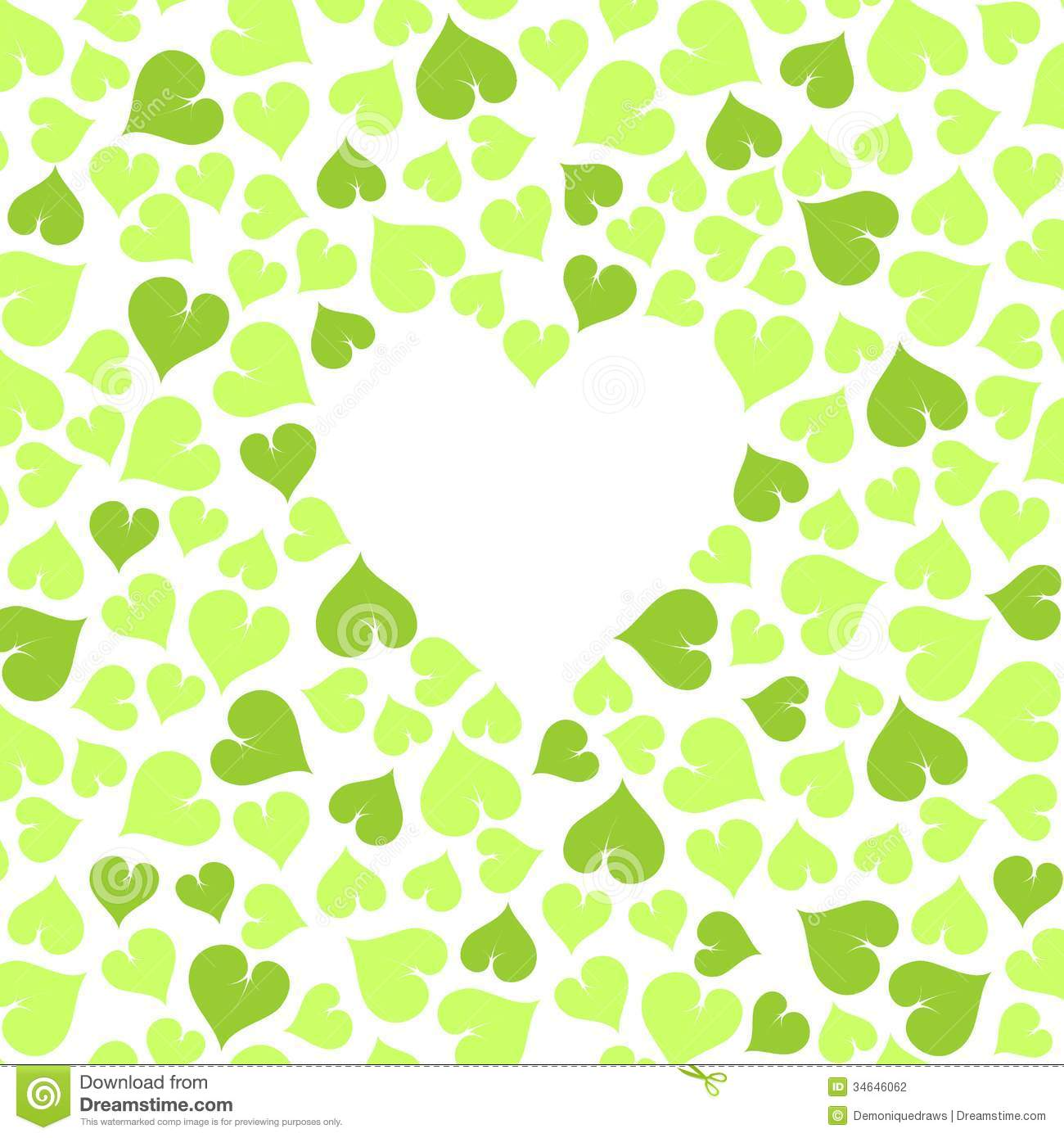 green hearts background - photo #38