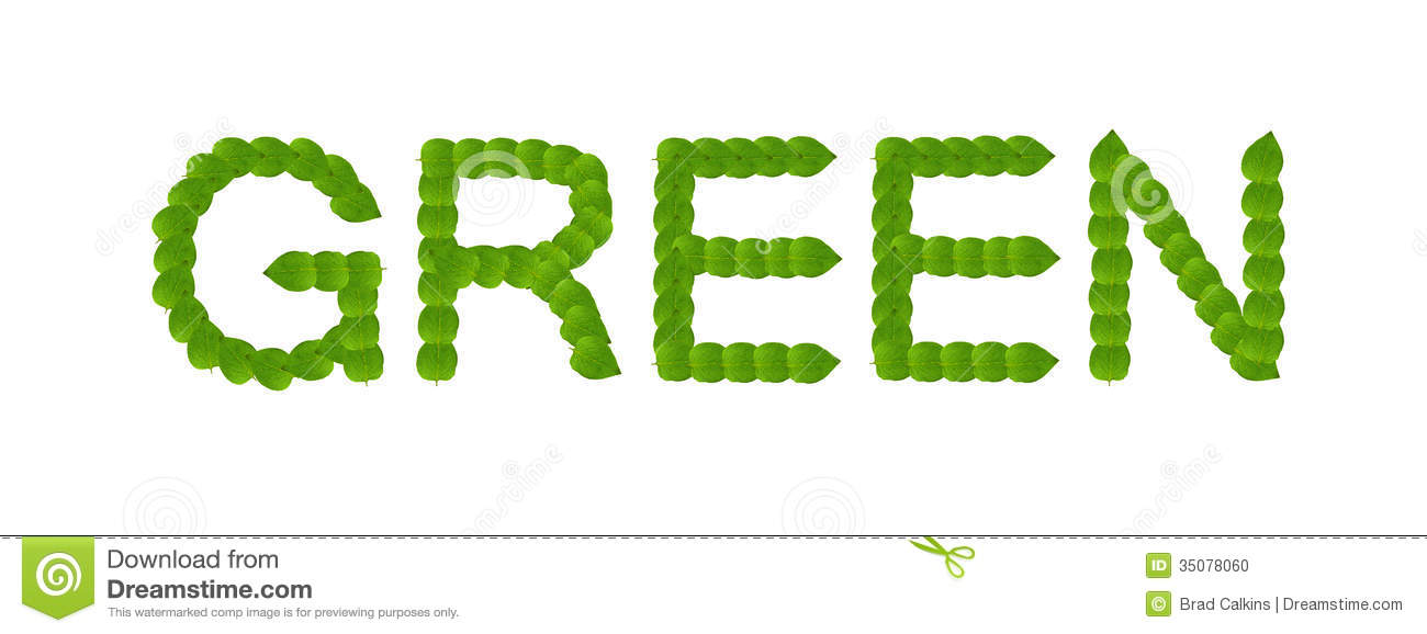 Green Leaves Word Concept Stock Photo - Image: 35078060