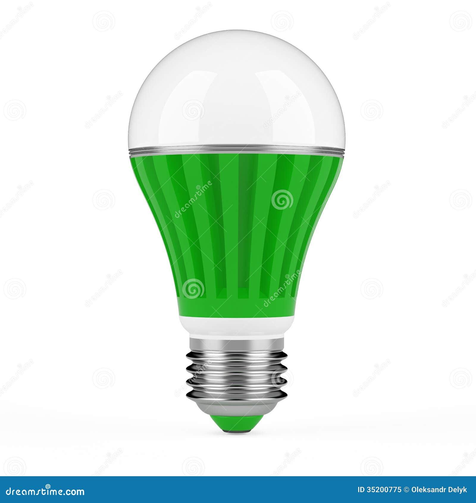 Green LED lamp stock illustration. Illustration of conservation ...