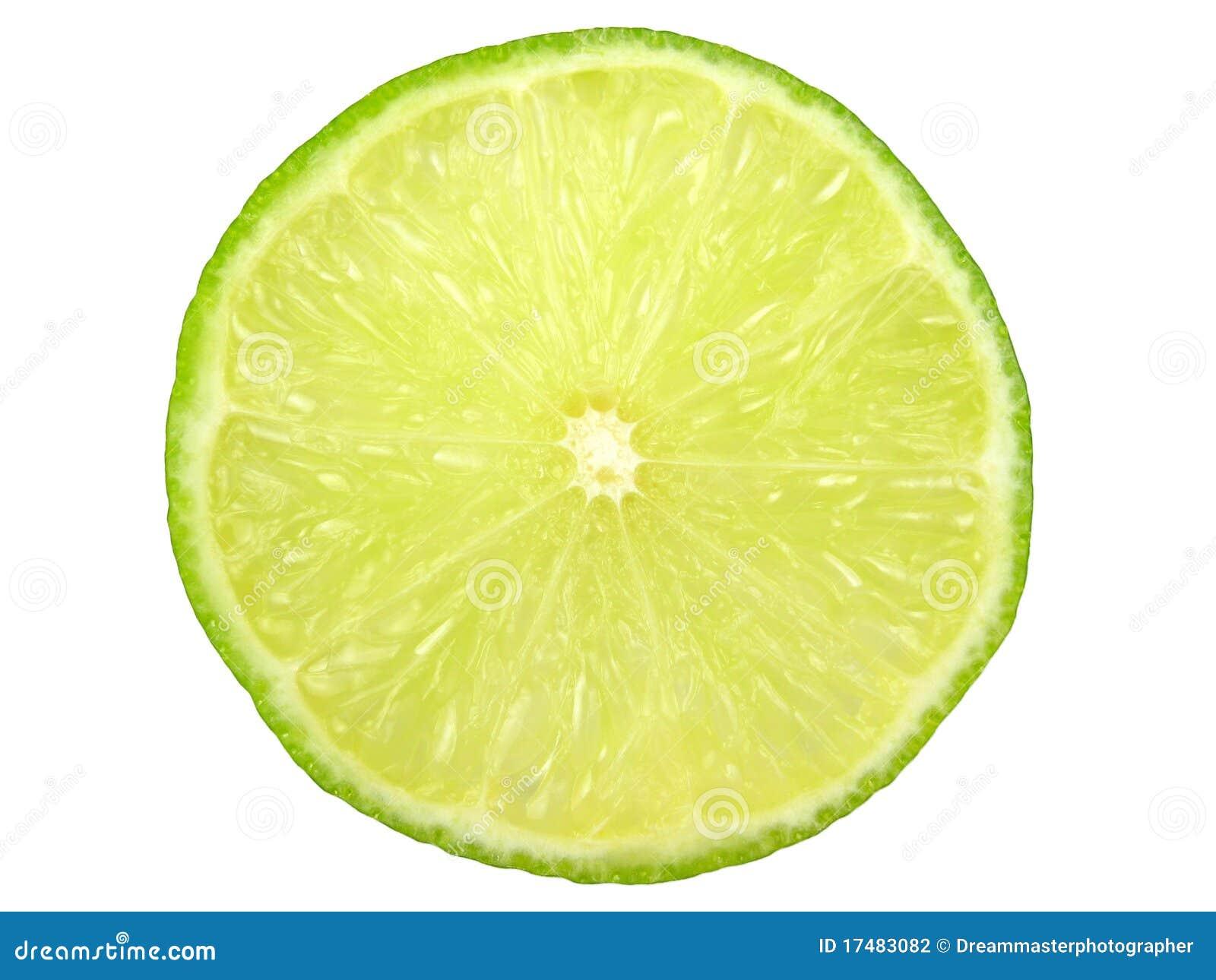 Green lemon slice