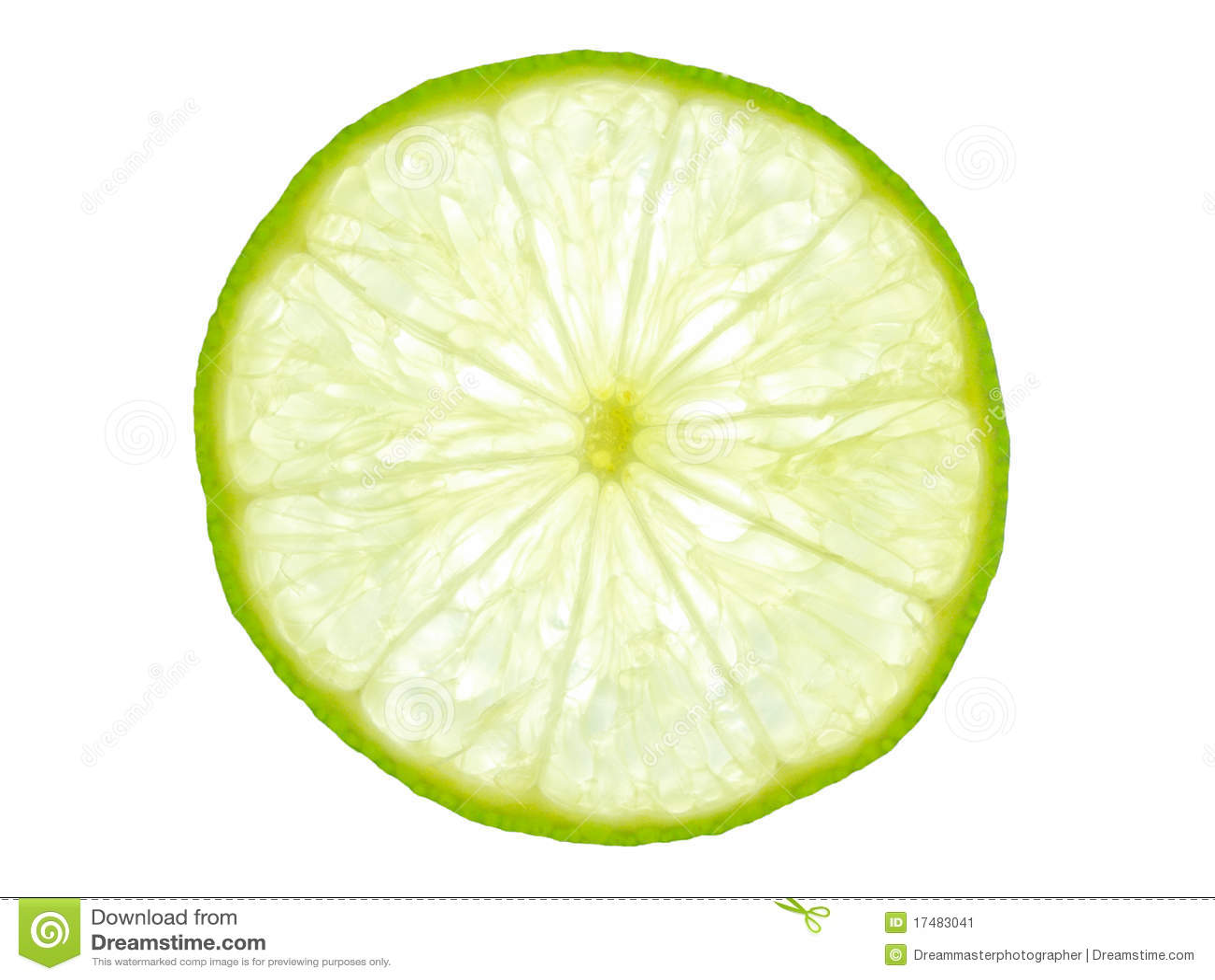 Green Lemon Slice Backlit Stock Image Image 17483041