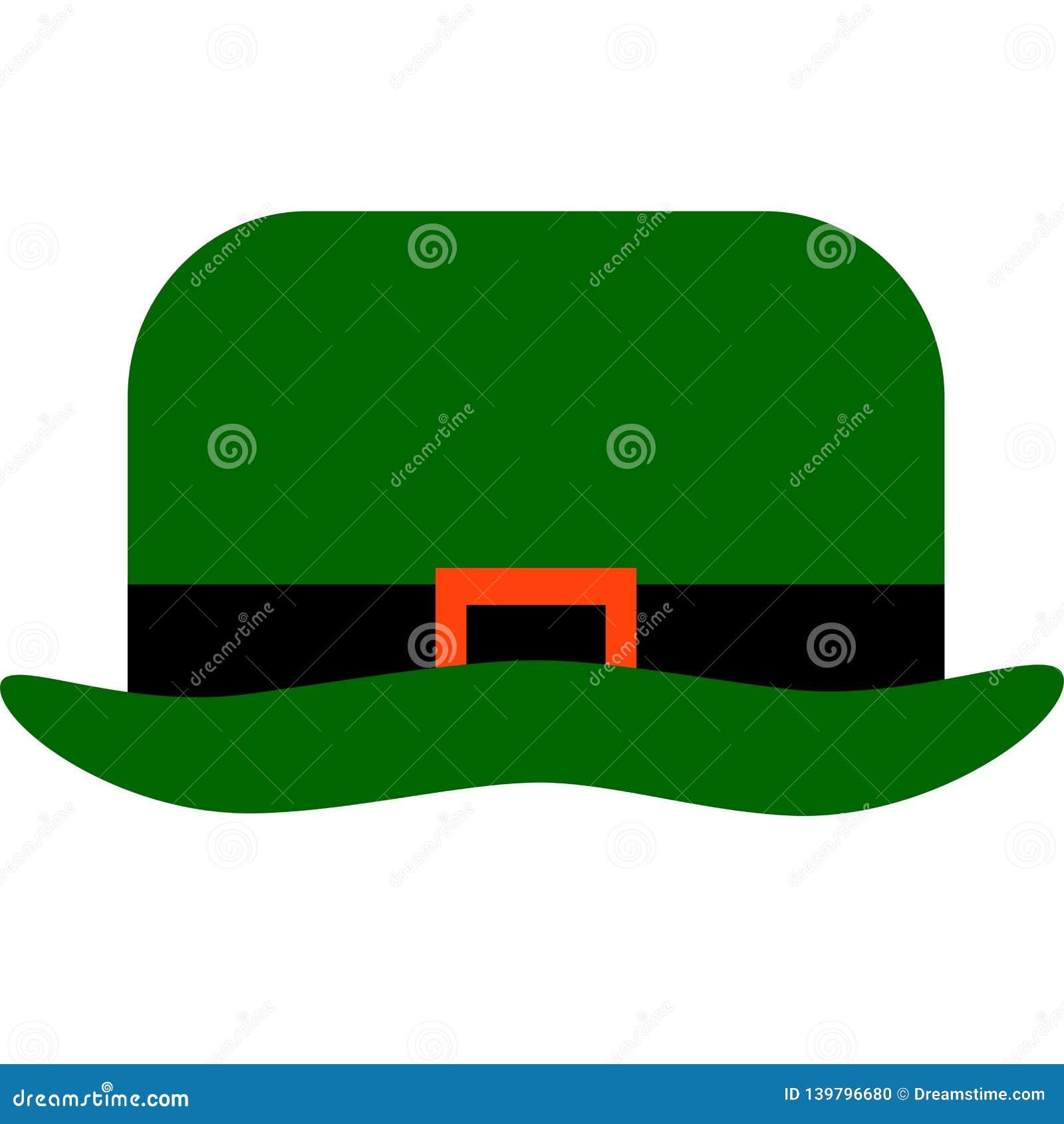 Green Leprechaun`s hat for St. Patrick`s Day decoration