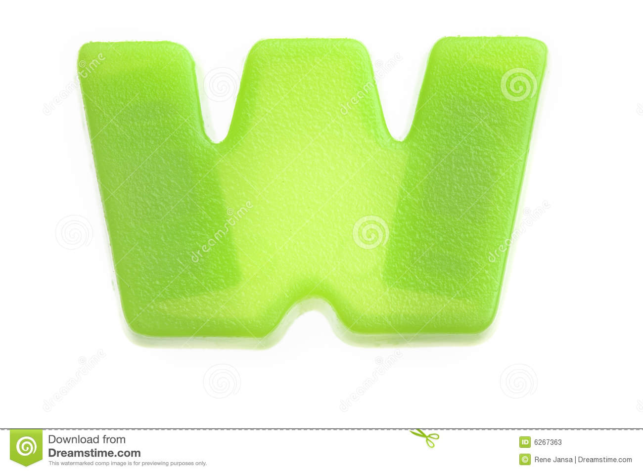 Green Letter W Stock Photos - Image: 6267363