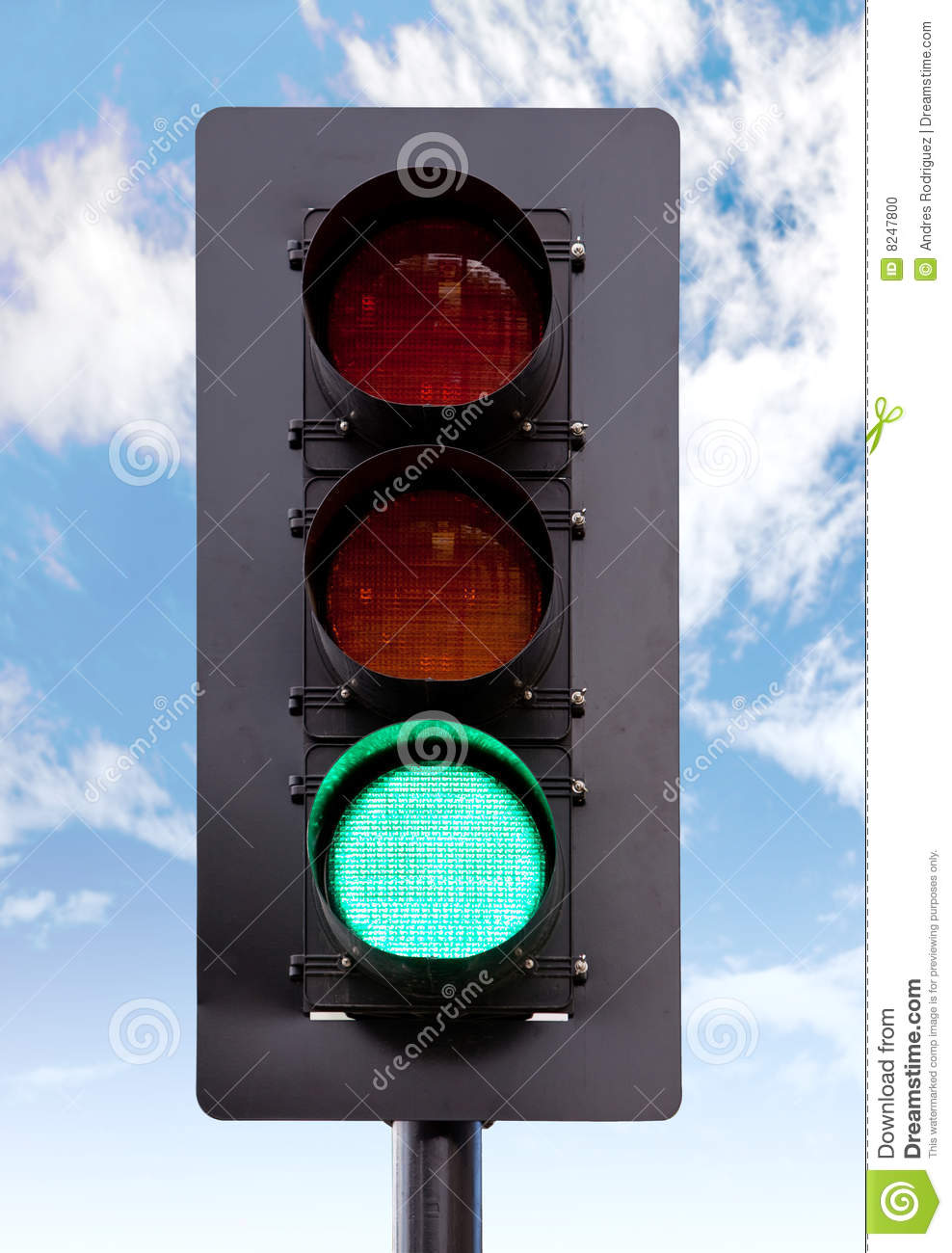 Green Light Stock Photo - Image: 8247800