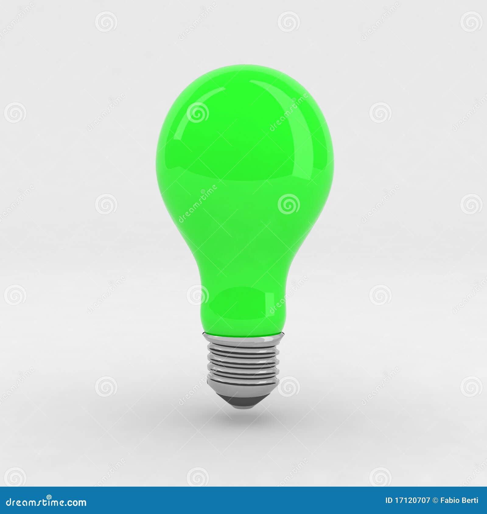 Green Light Bulb Royalty Free Stock Photography Image 17120707