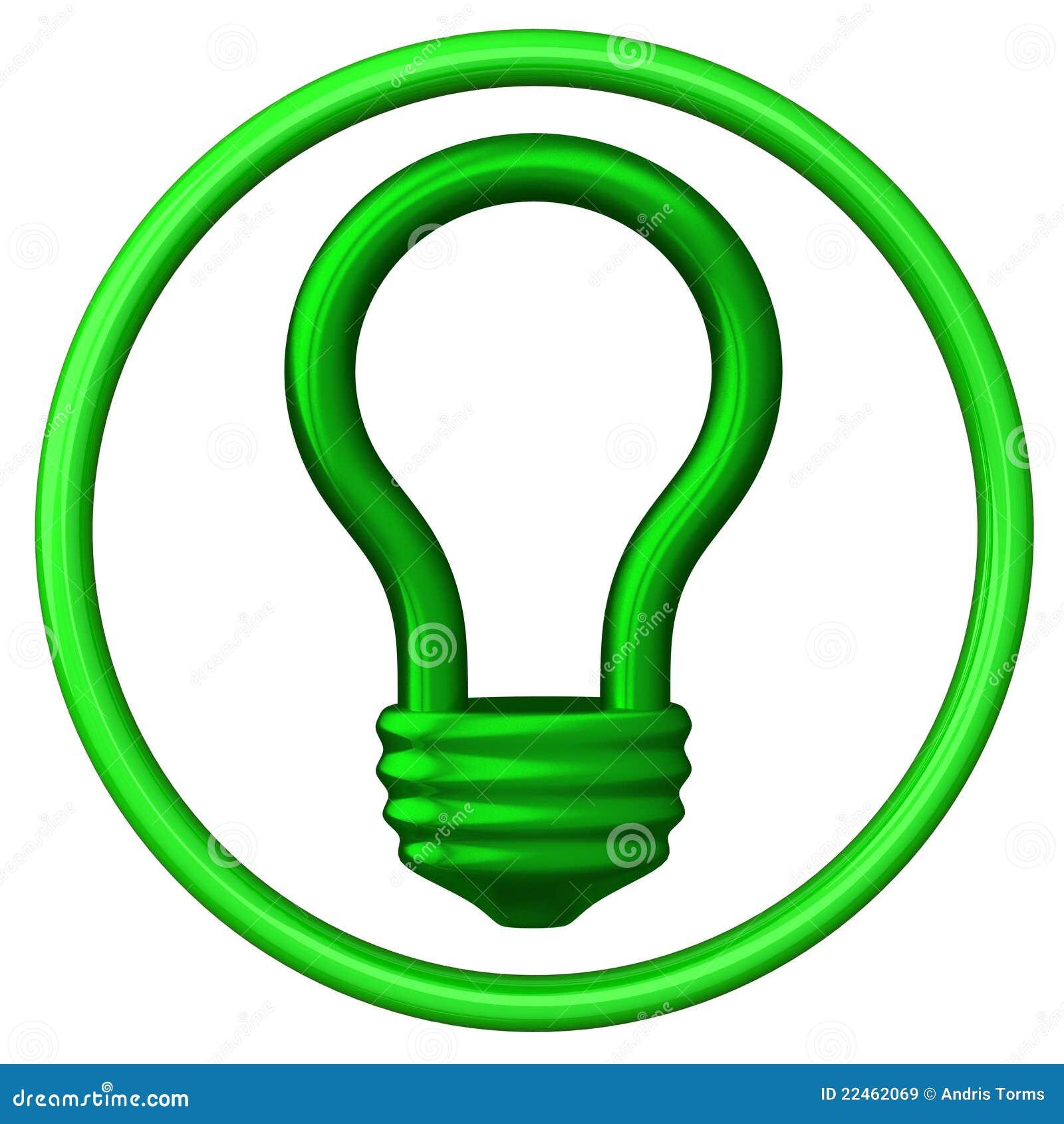 Green Light Bulb Icon 3d Stock Illustration Illustration Of Electric 22462069