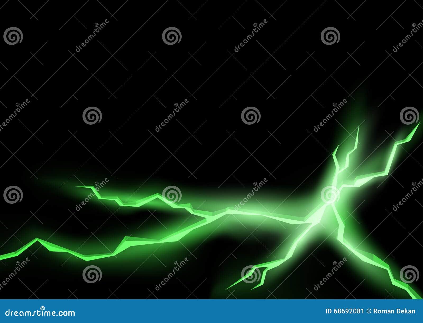 Green Lightning Cracks