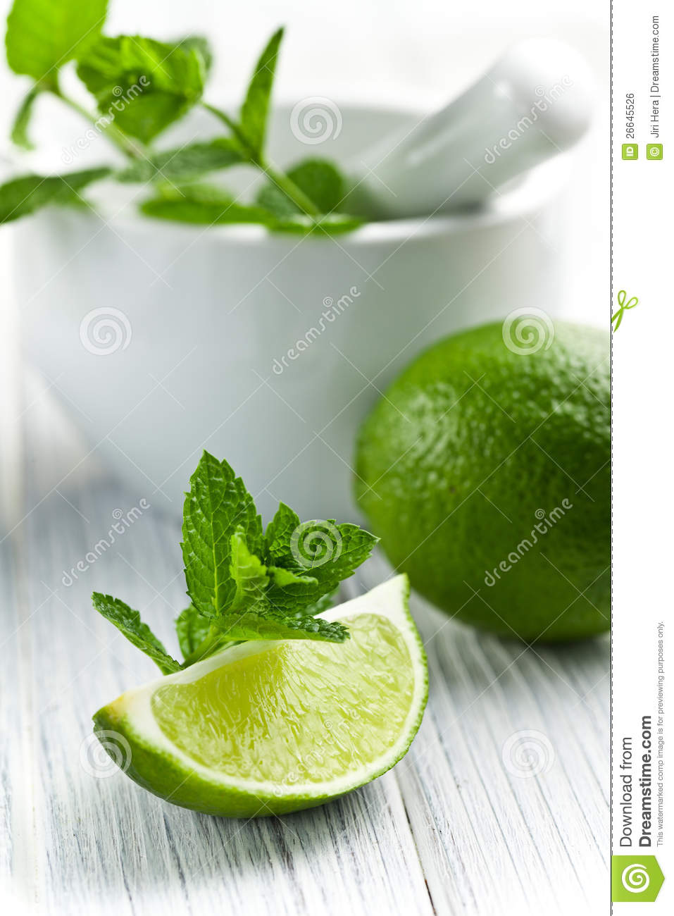 Green lime with mint