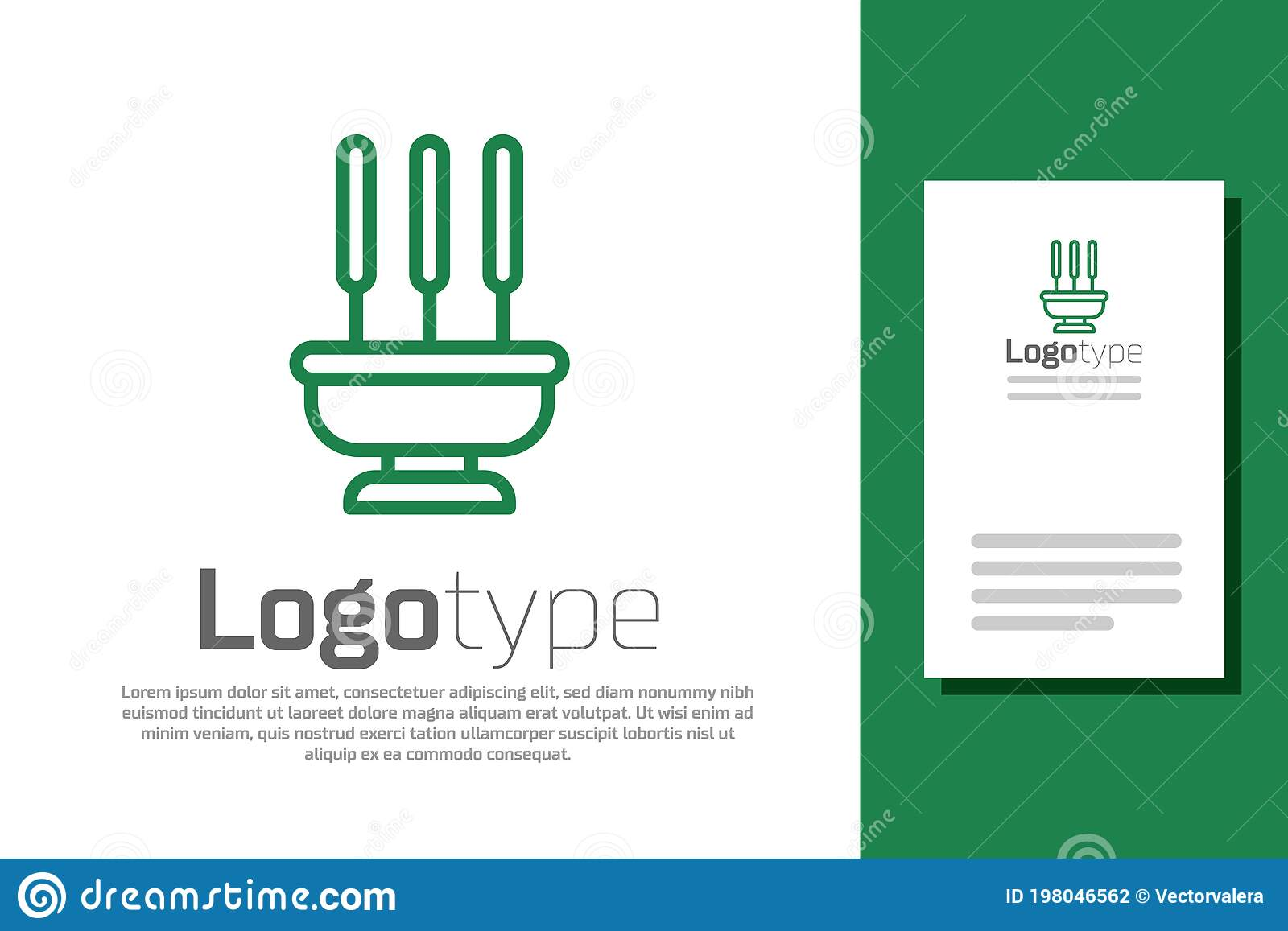 Green Line Burning Aromatic Incense Sticks Icon Isolated On White Background Logo Design Template Element Vector Stock Vector Illustration Of Design Element 198046562