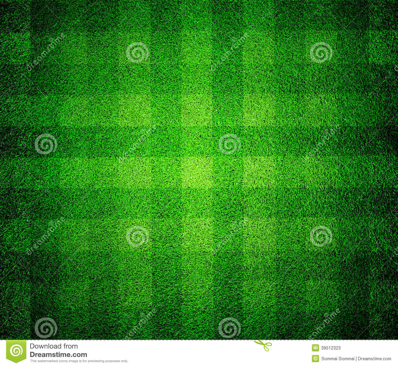 Green lined field