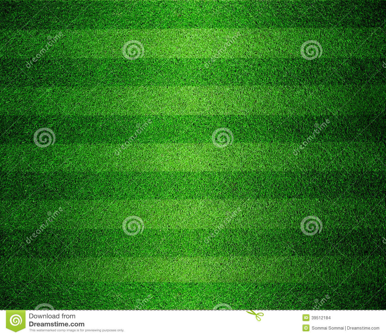 Green lined football field