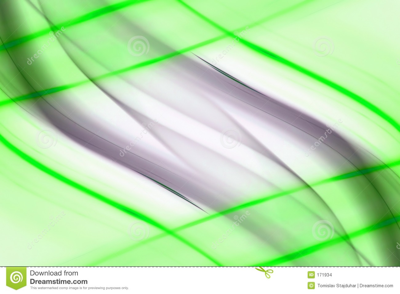 Green lines abstract