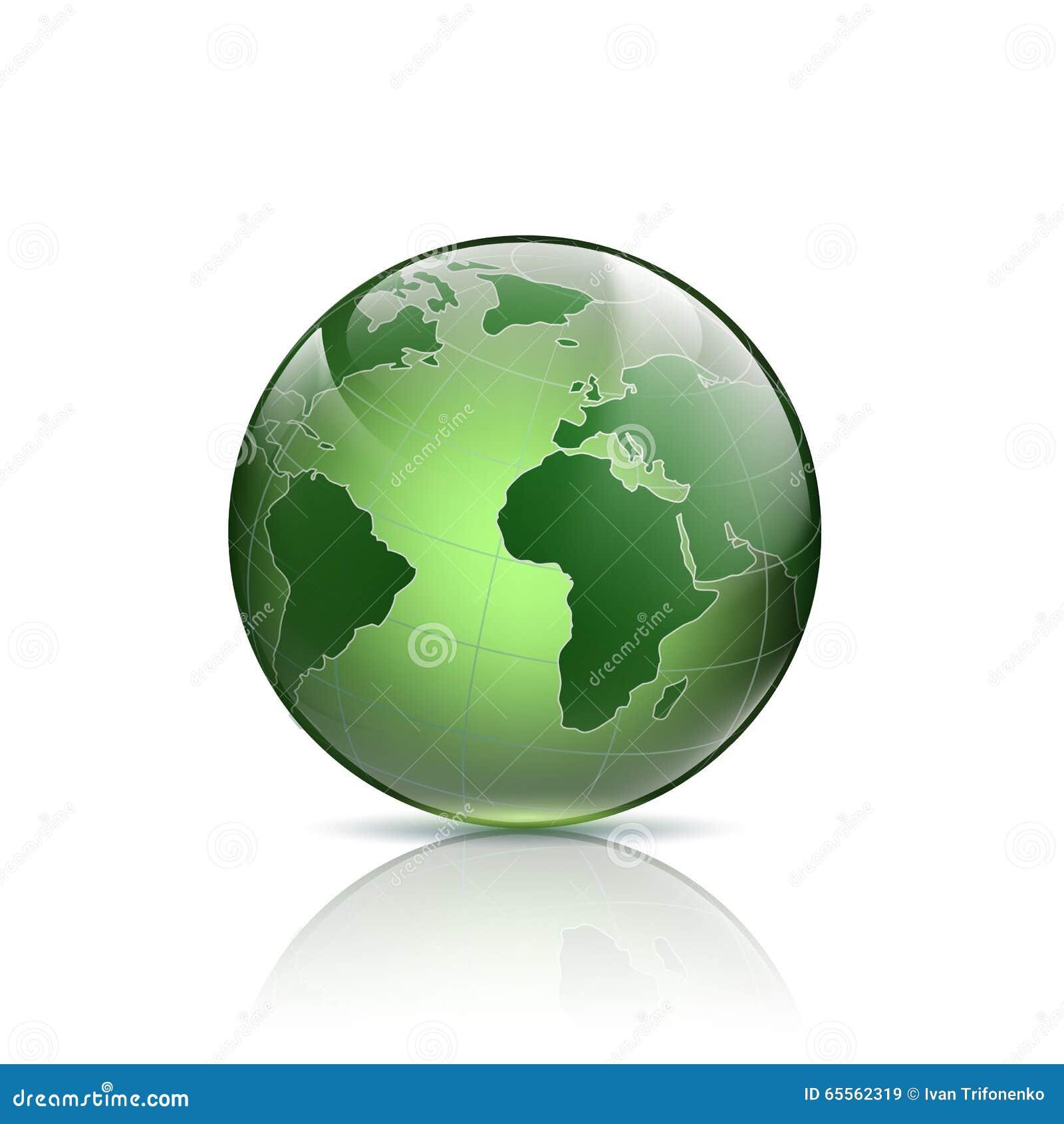 Green Logo Earth. Stock Illustration - Image: 65562319 Green Earth Logo Vector