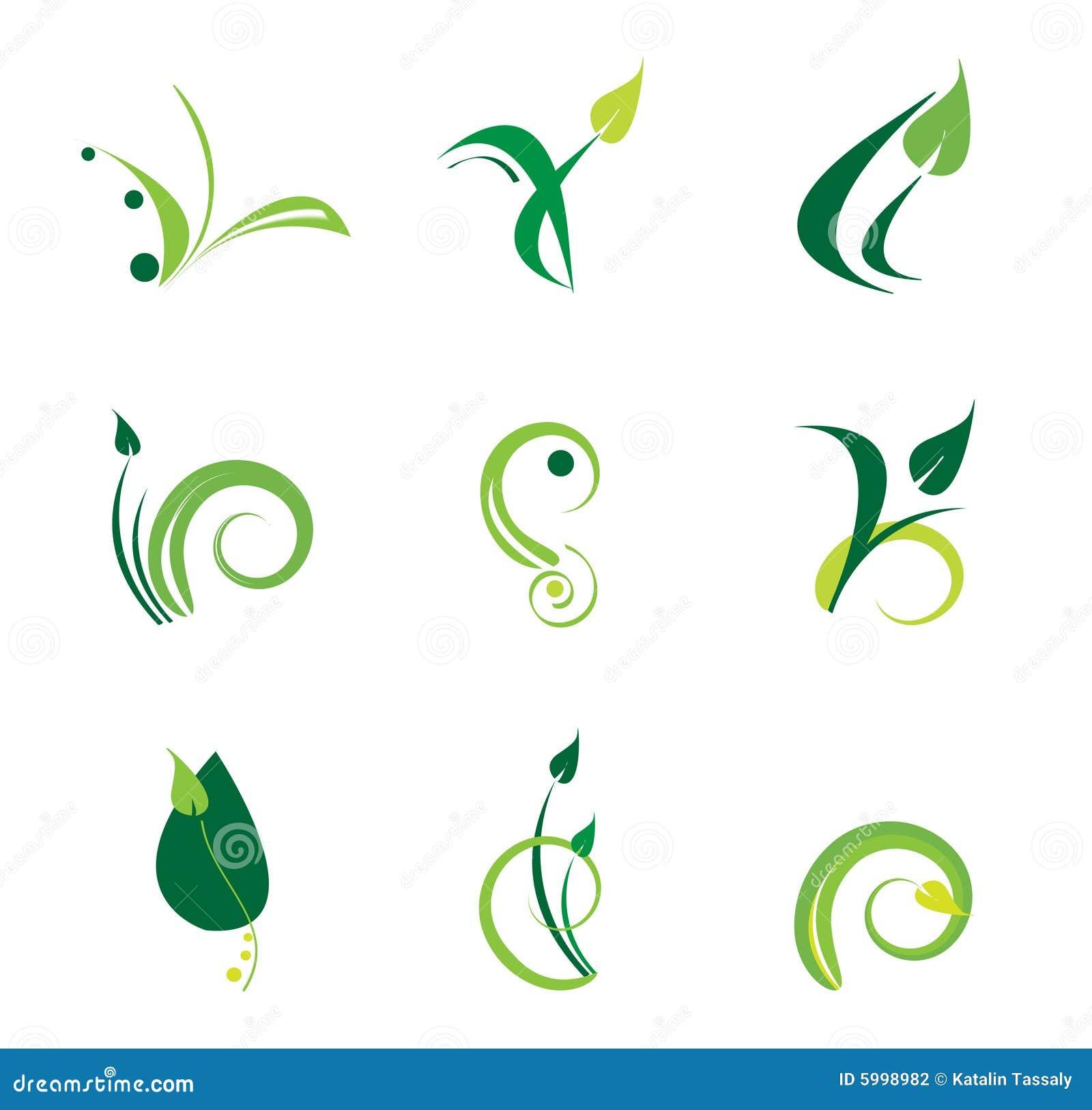 Green logo set