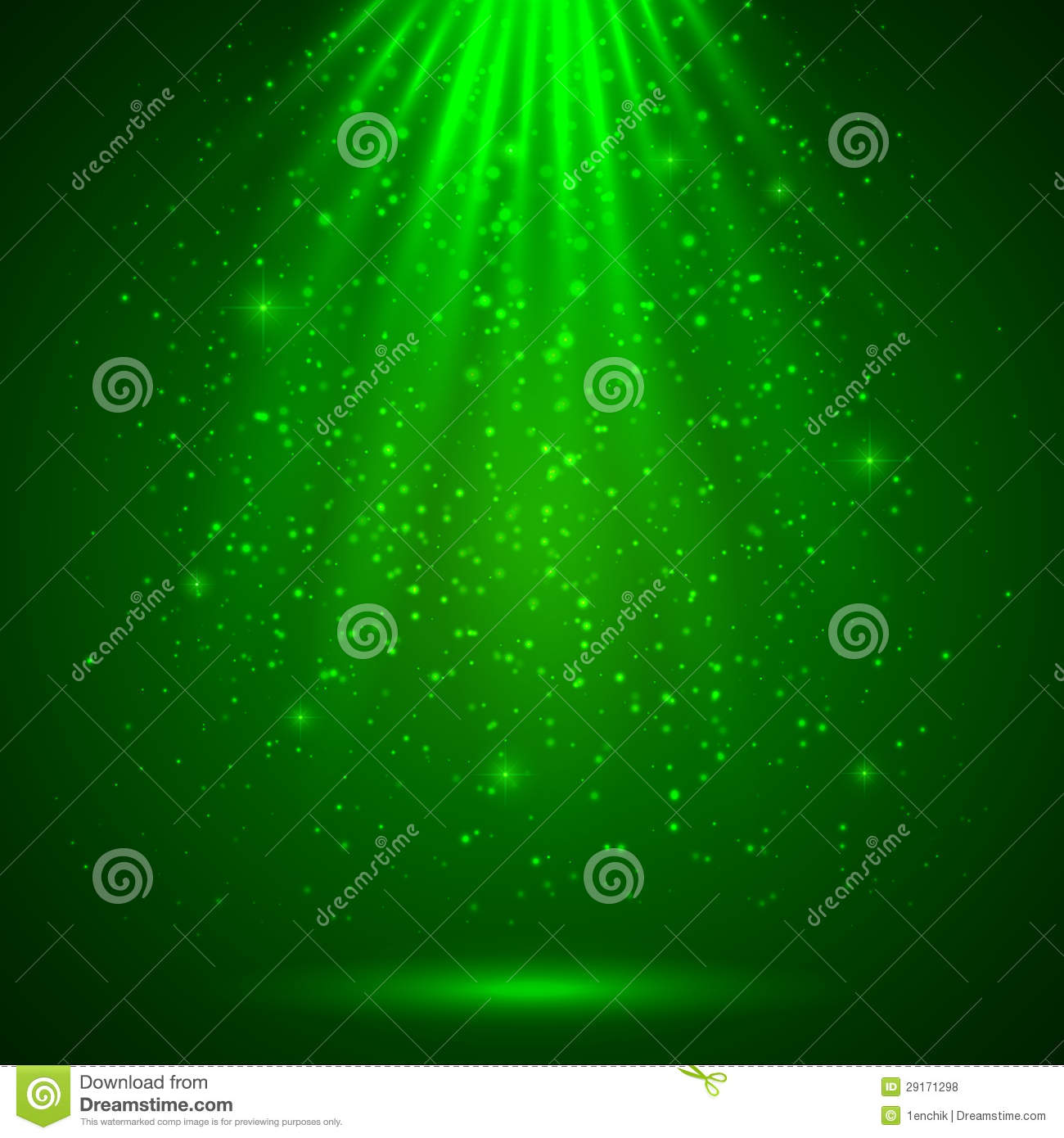 green magic light abstract background royalty free stock