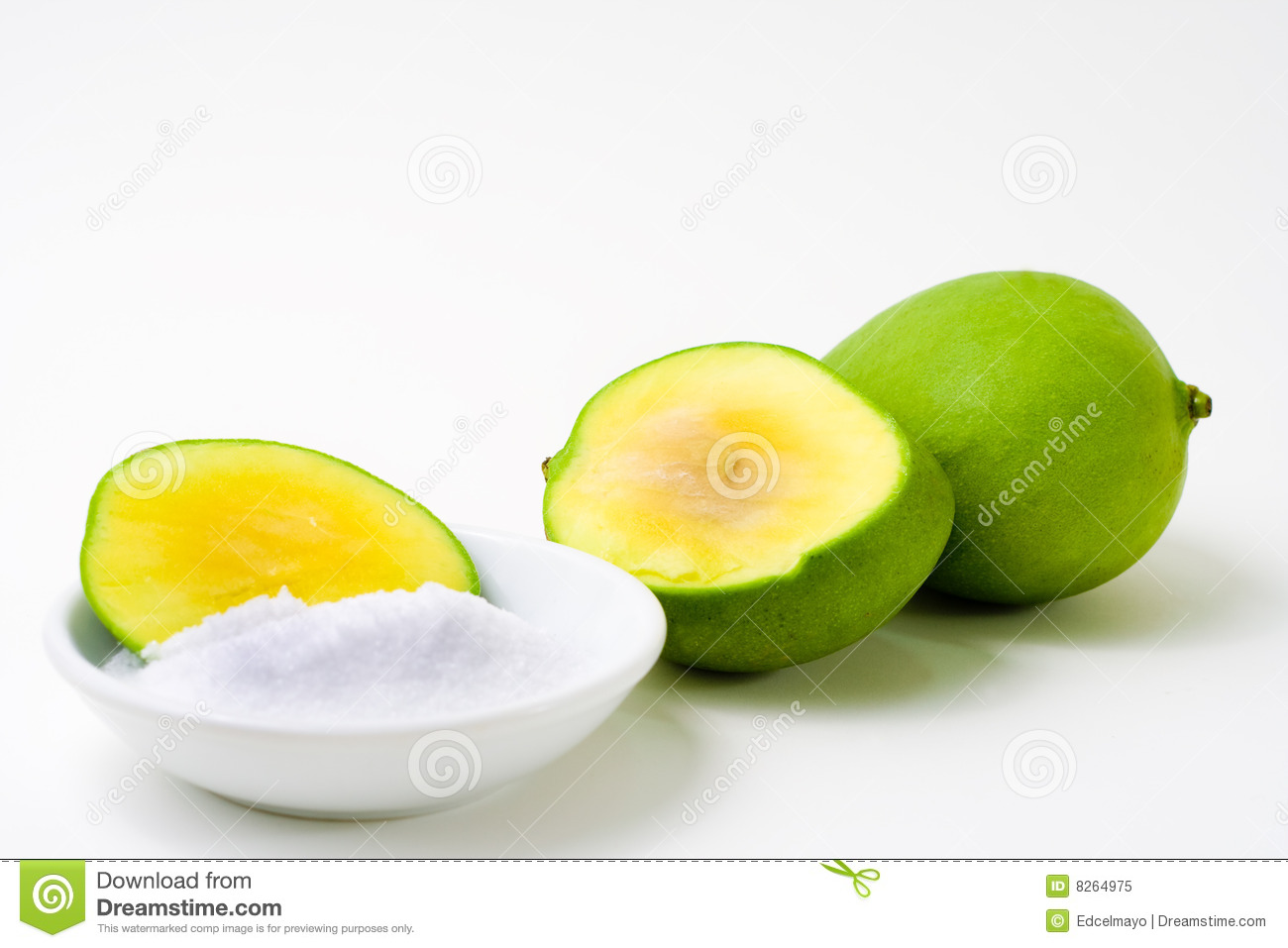 Green Mango Sliced Royalty Free Stock Photo - Image: 8264975
