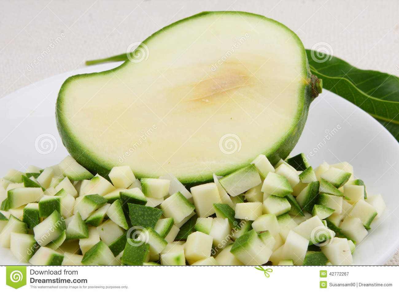 Green Mango Small Slices Stock Photo - Image: 42772267