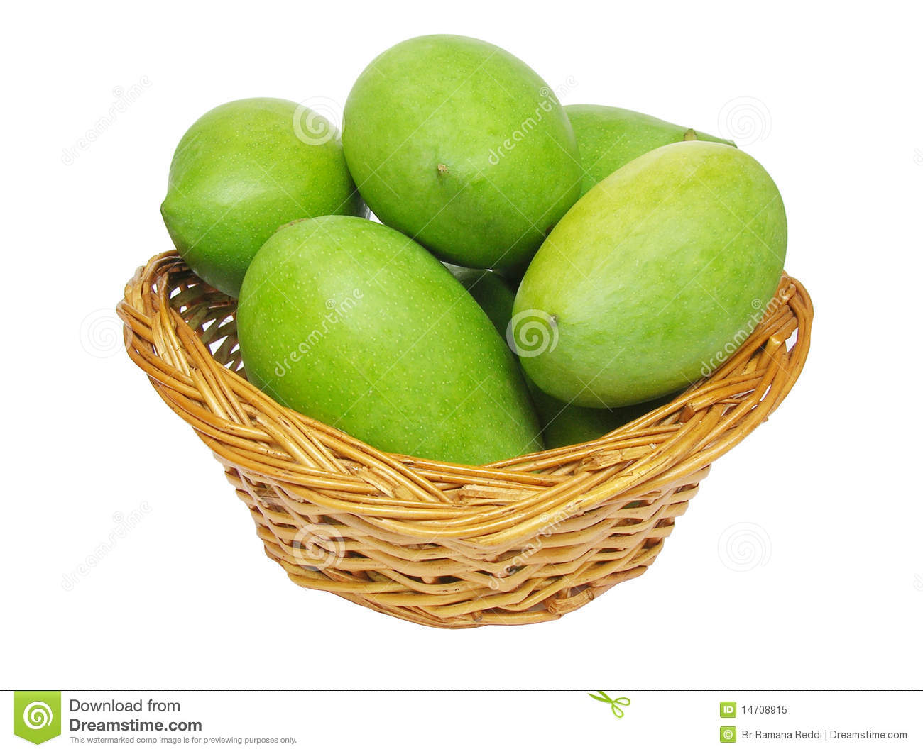 Green Mangoes In A Basket Royalty Free Stock Photo - Image ...