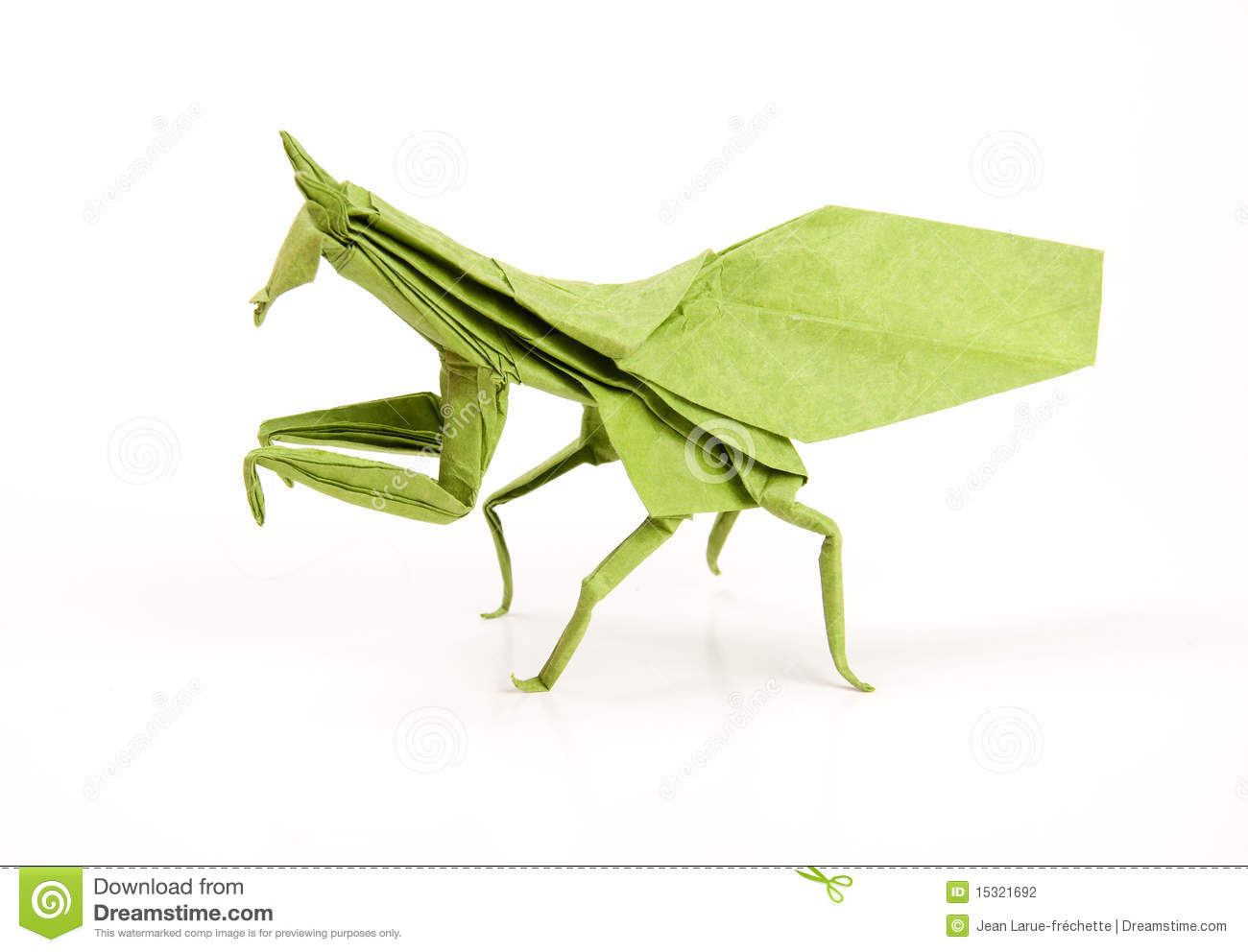 Green Mantis Origami Stock Photo Image Of Craft Insect