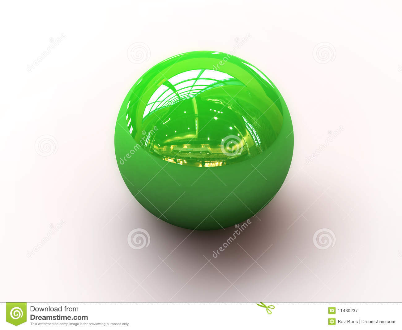 Green Marble Toy : Green marble royalty free stock photography image