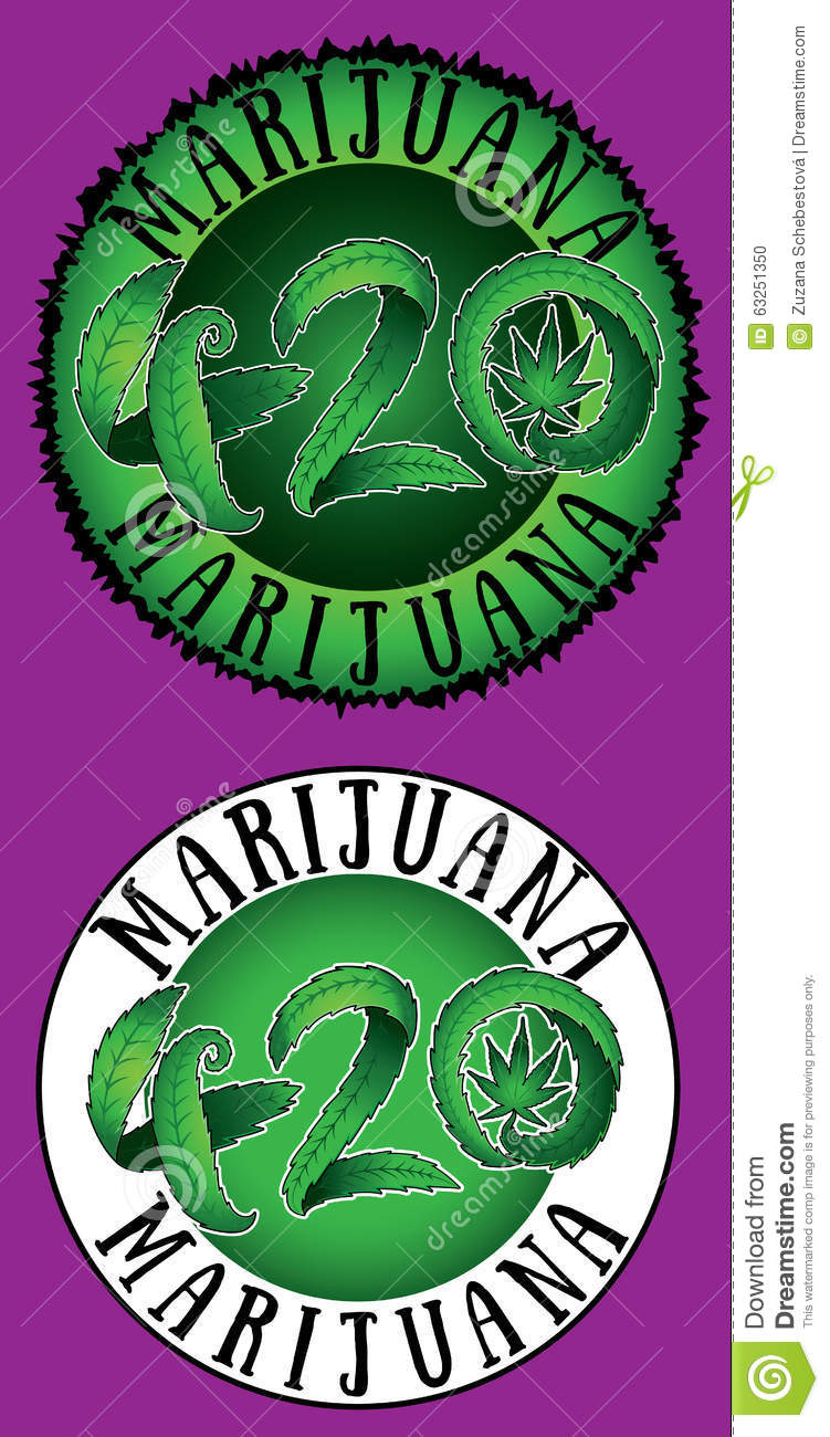 green marijuana leaf 420 text illustration stamps stock