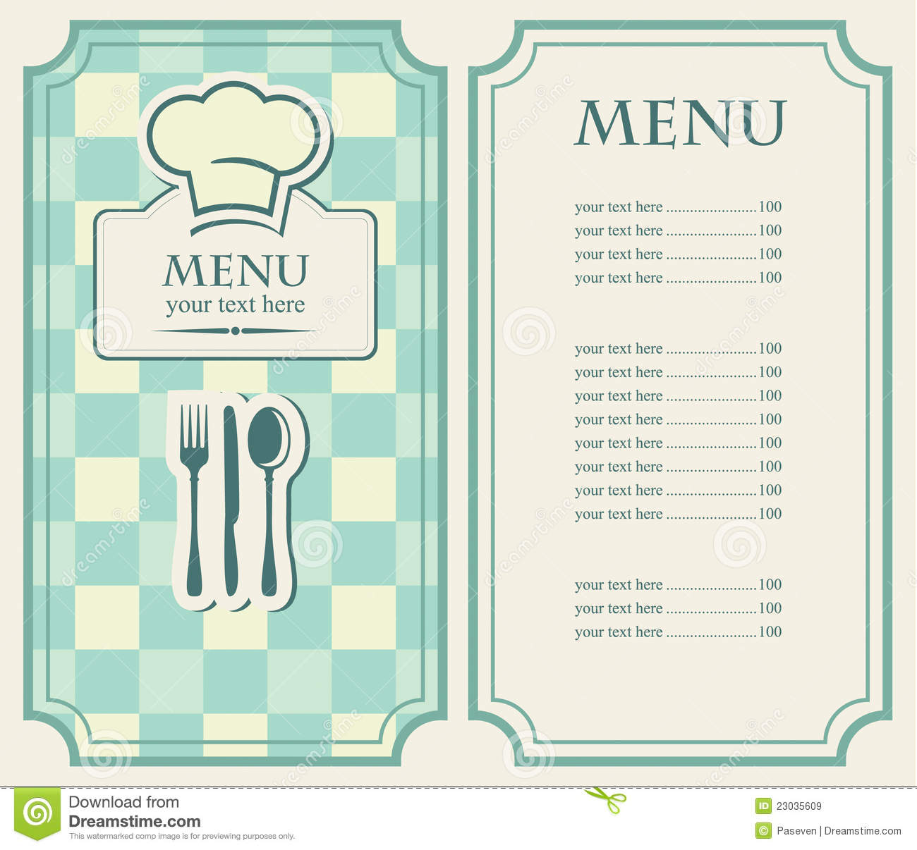 Green Menu Royalty Free Stock Images Image 23035609
