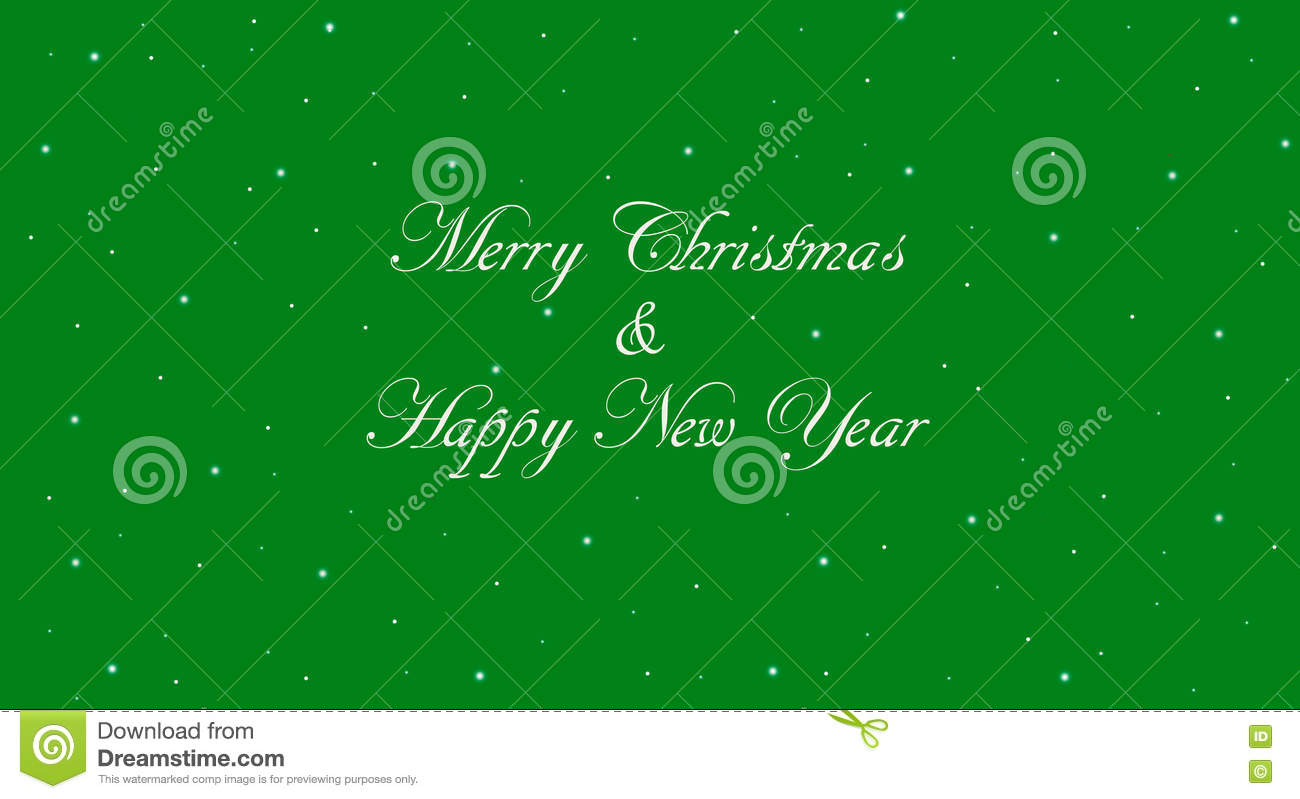 green merry christmas and happy new year banner