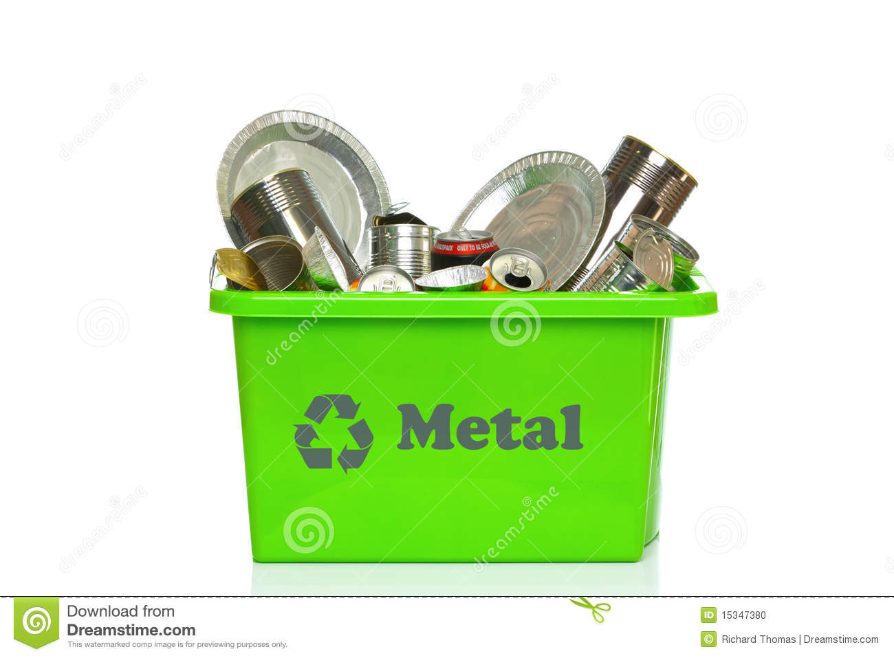 Stock Photo Green Metal Recycling Bin Isolated White Image15347380 on scrap aluminum