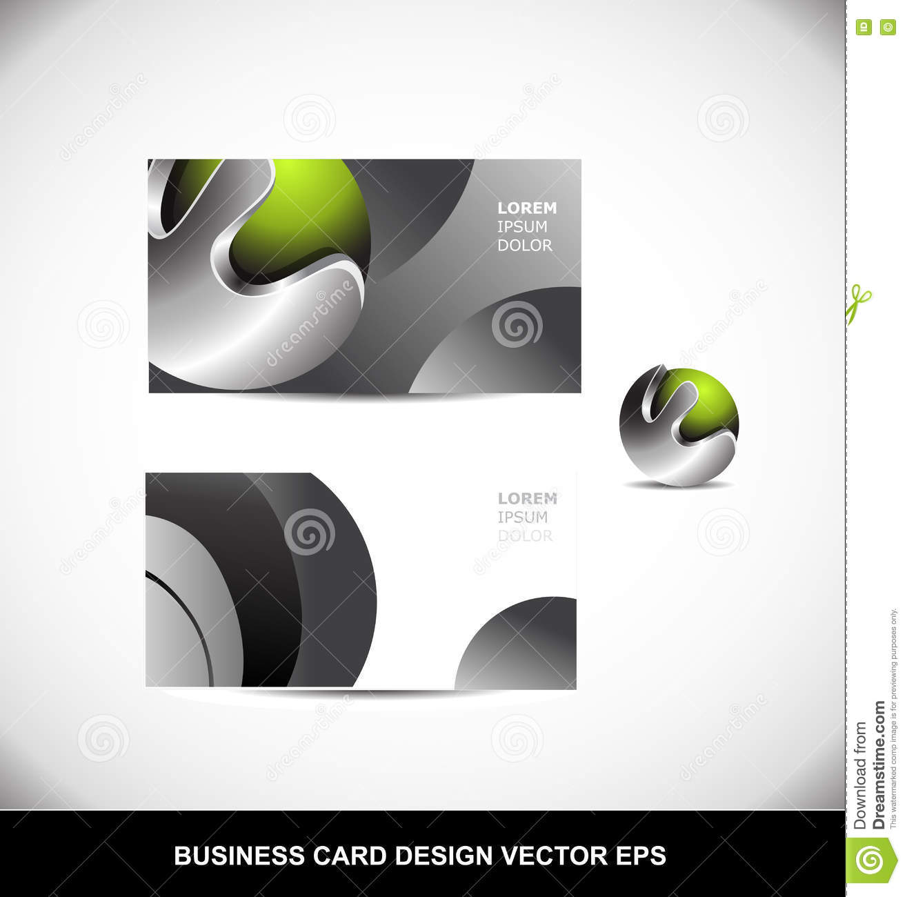 Green metal sphere business card vector design template eps stock green metal sphere business card vector design template eps reheart Images