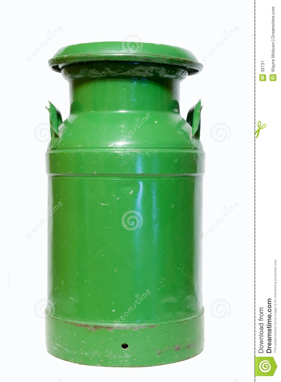 Green Milk Can Stock Image Image 39731