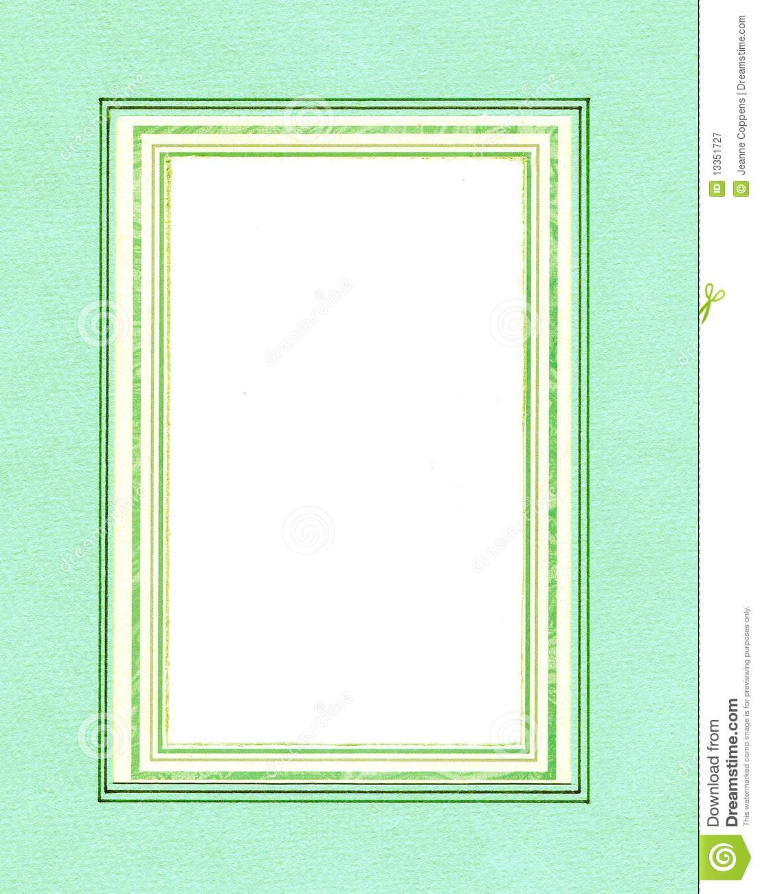 green mint frame  stock image  image of photo  blank