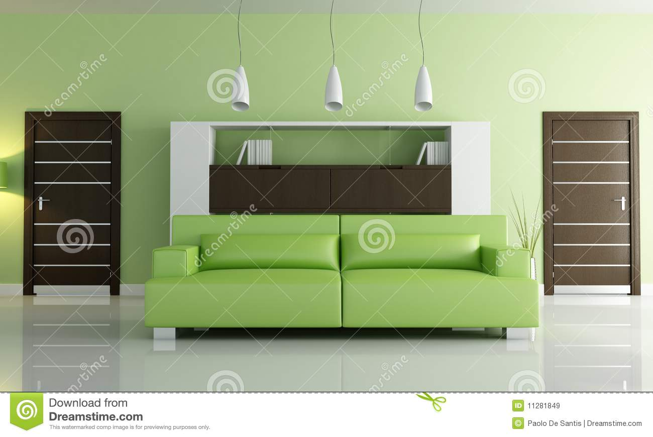Green modern living room stock illustration image of for Modern living room green