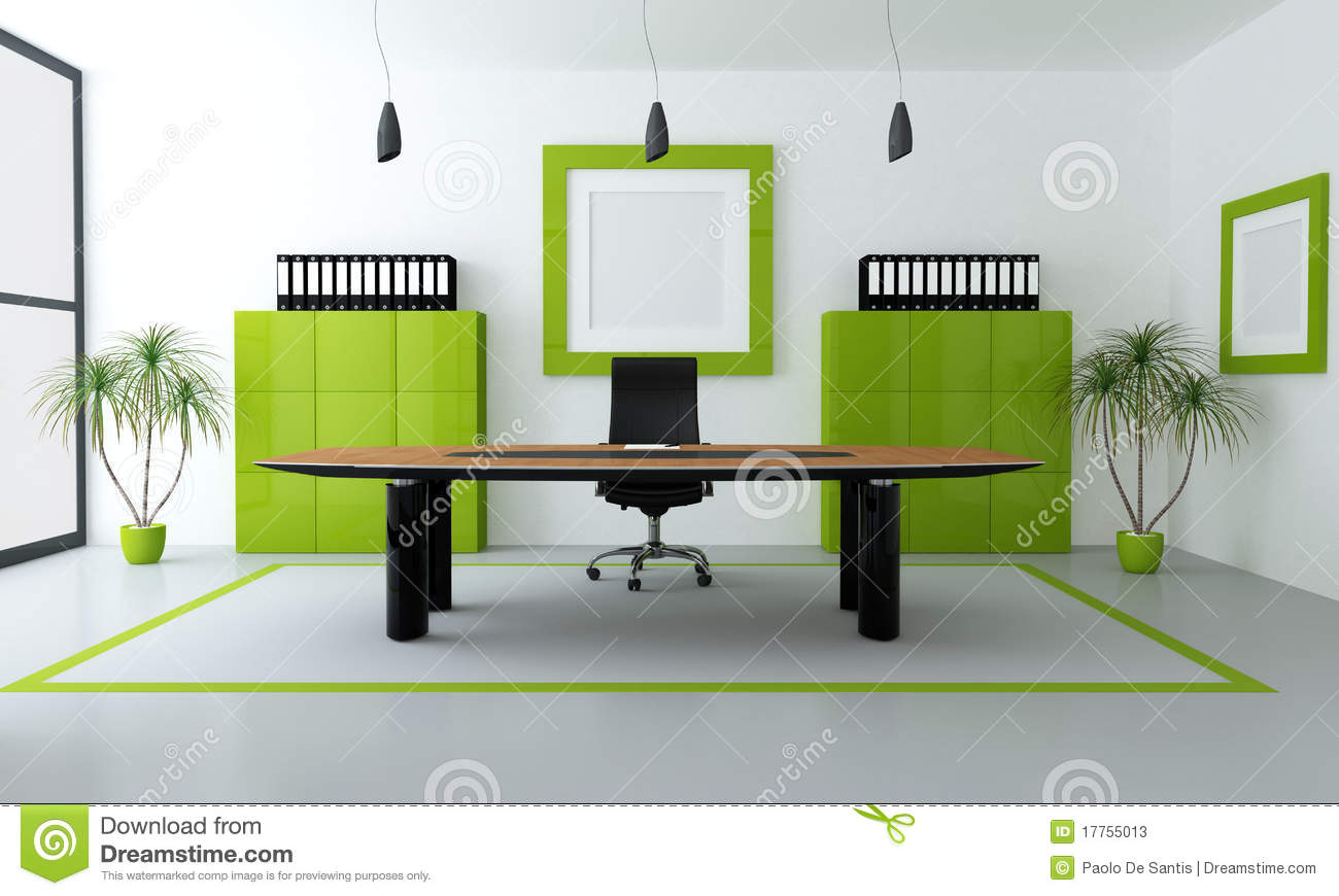 Green modern office stock illustration image of frame for Muebles de oficina rio cuarto