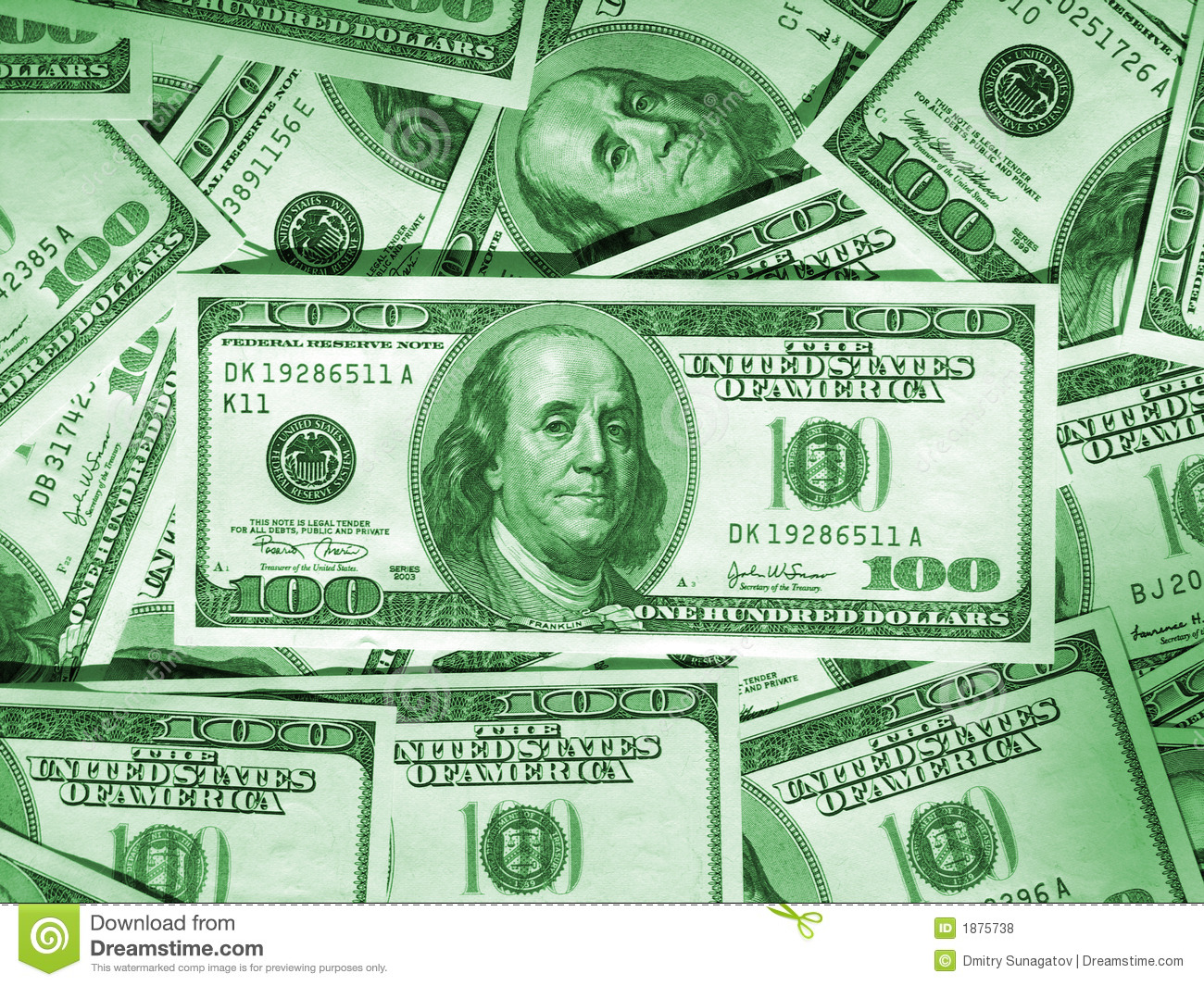 Green Money Background Royalty Free Stock Photos - Image: 1875738