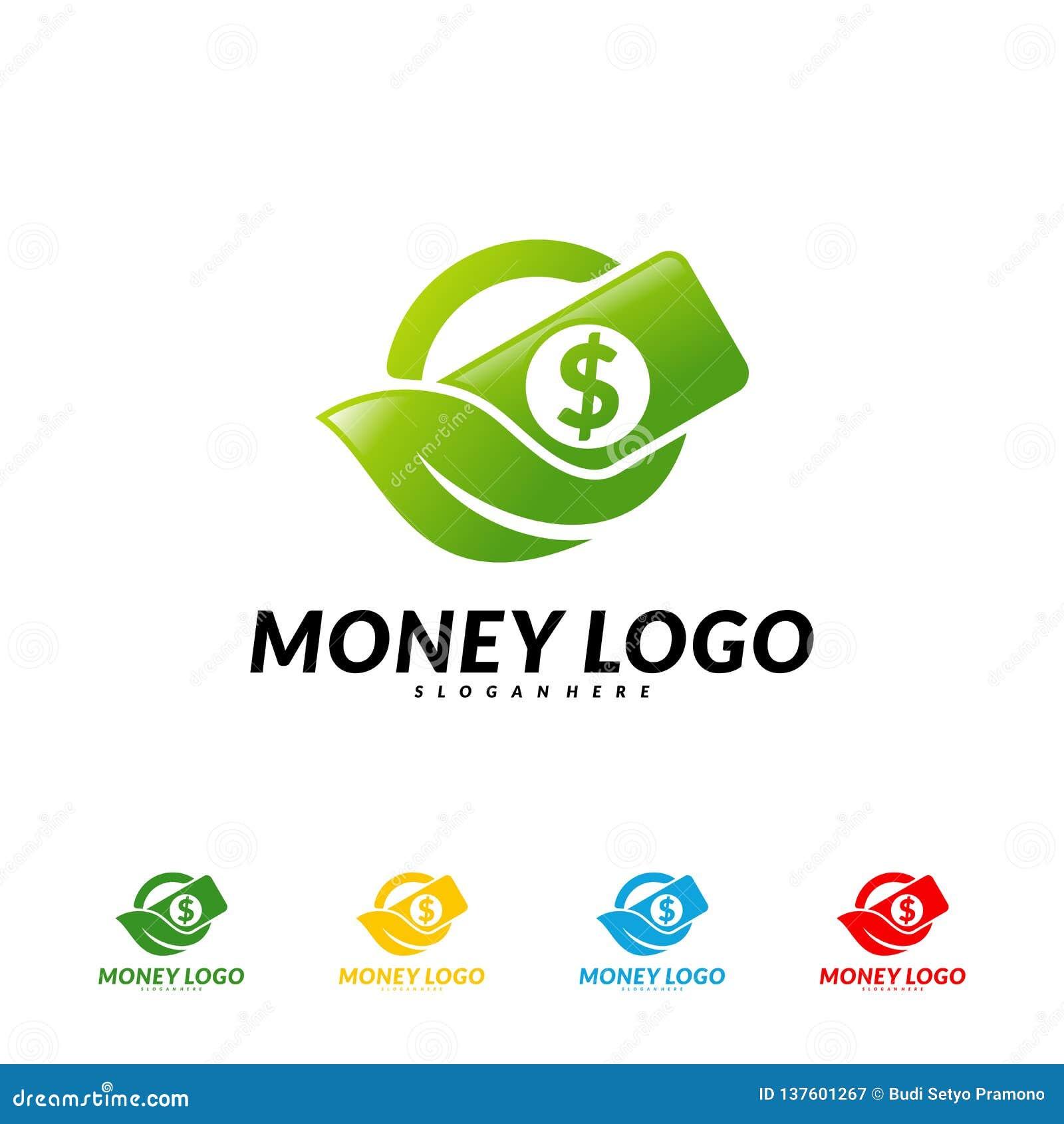 Green Money Logo Design Concept Vector Coin With Leaf Logo Template Stock Vector Illustration Of Clover Dollar 137601267