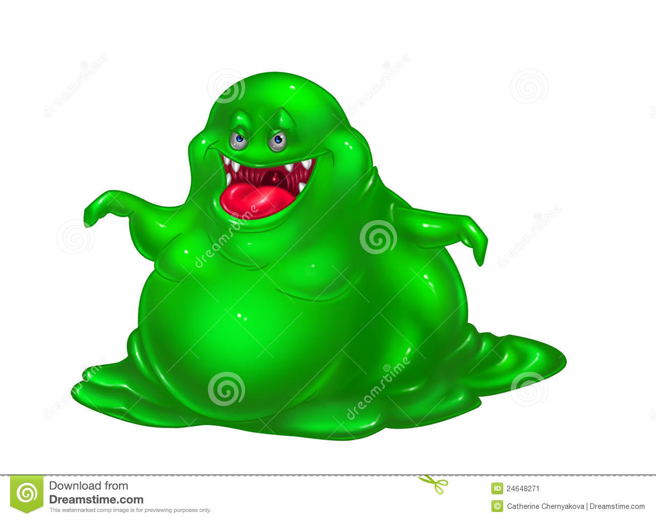 Green Monster Virus Stock Image - Image: 24648271
