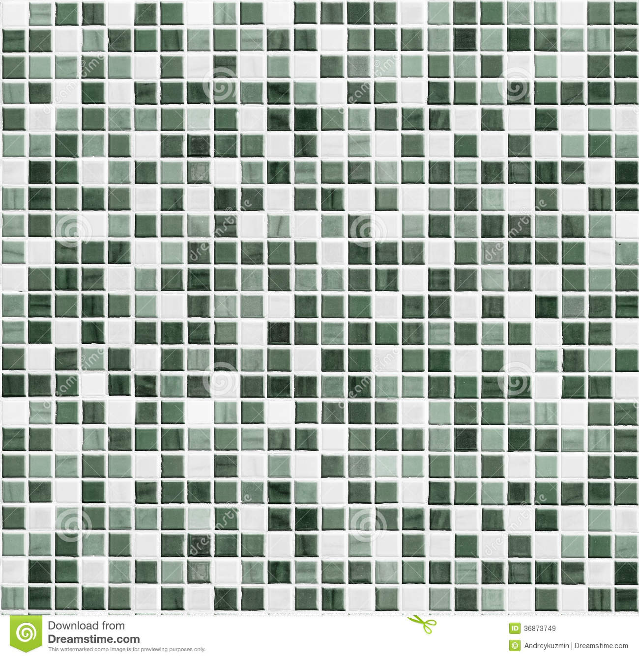 Green Mosaic Bathroom Kitchen Or Toilet Tile Wall Background Royalty