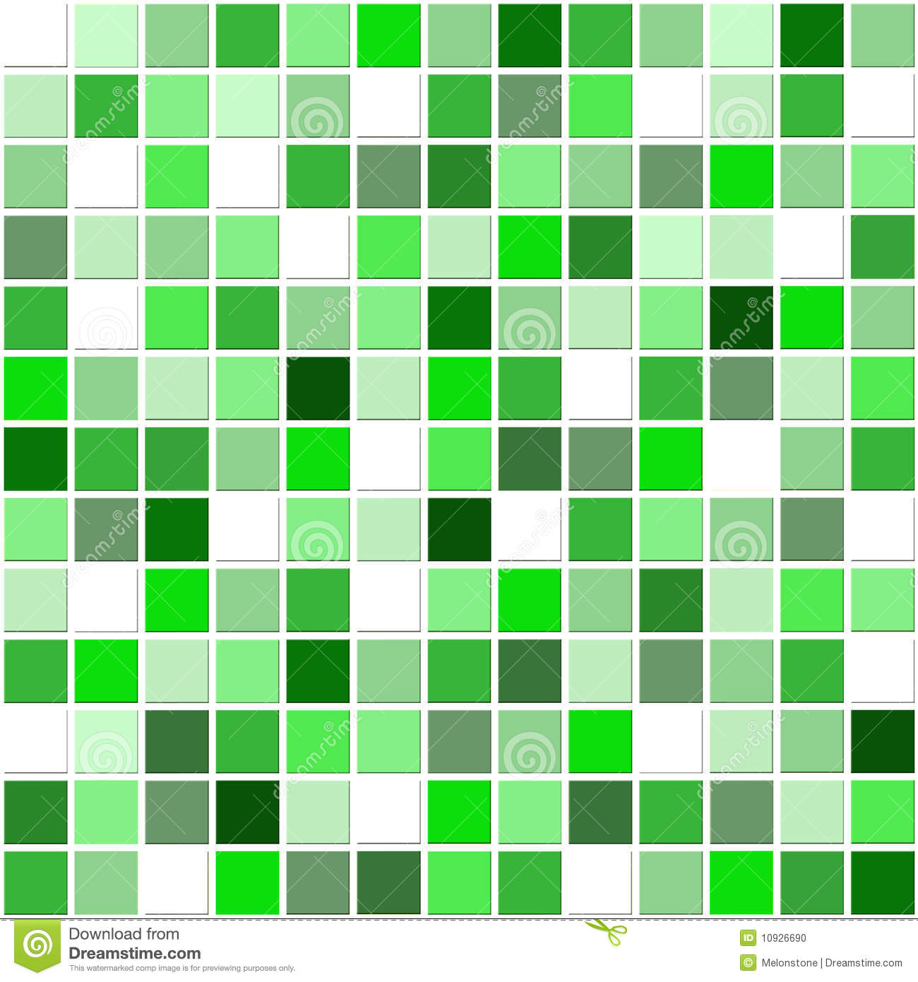 Green Mosaic Tiles Stock Illustration Illustration Of