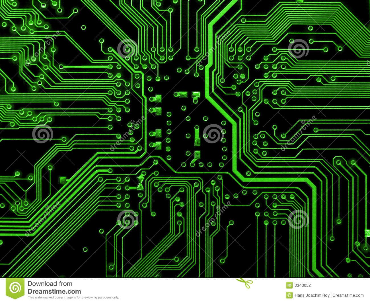 Green Motherboard Stock Photography - Image: 3343052