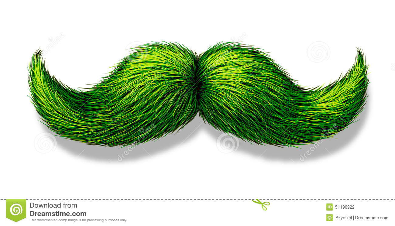 Green Moustache Stock Illustration Illustration Of Icon 51190922