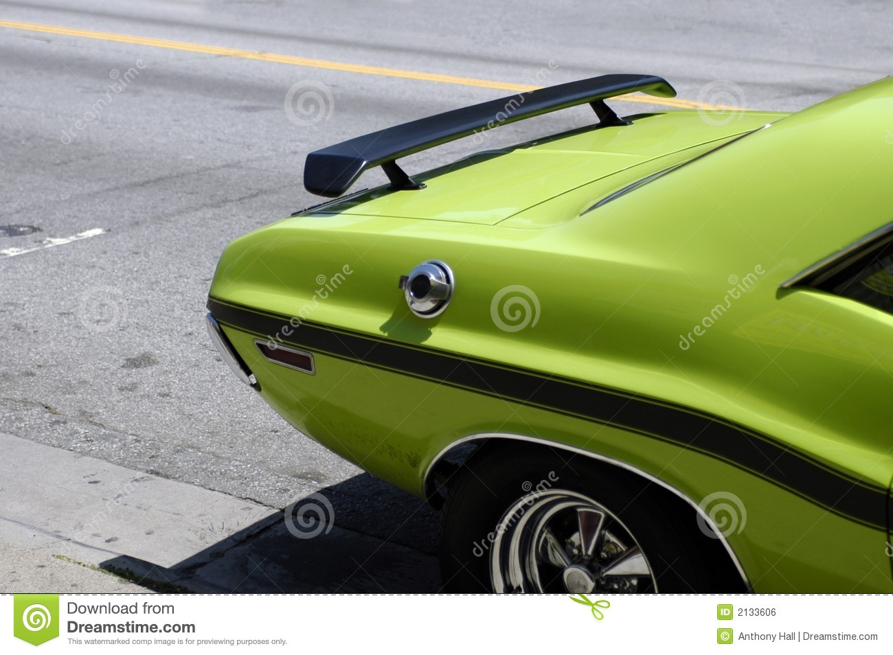 green muscle car royalty  stock image image