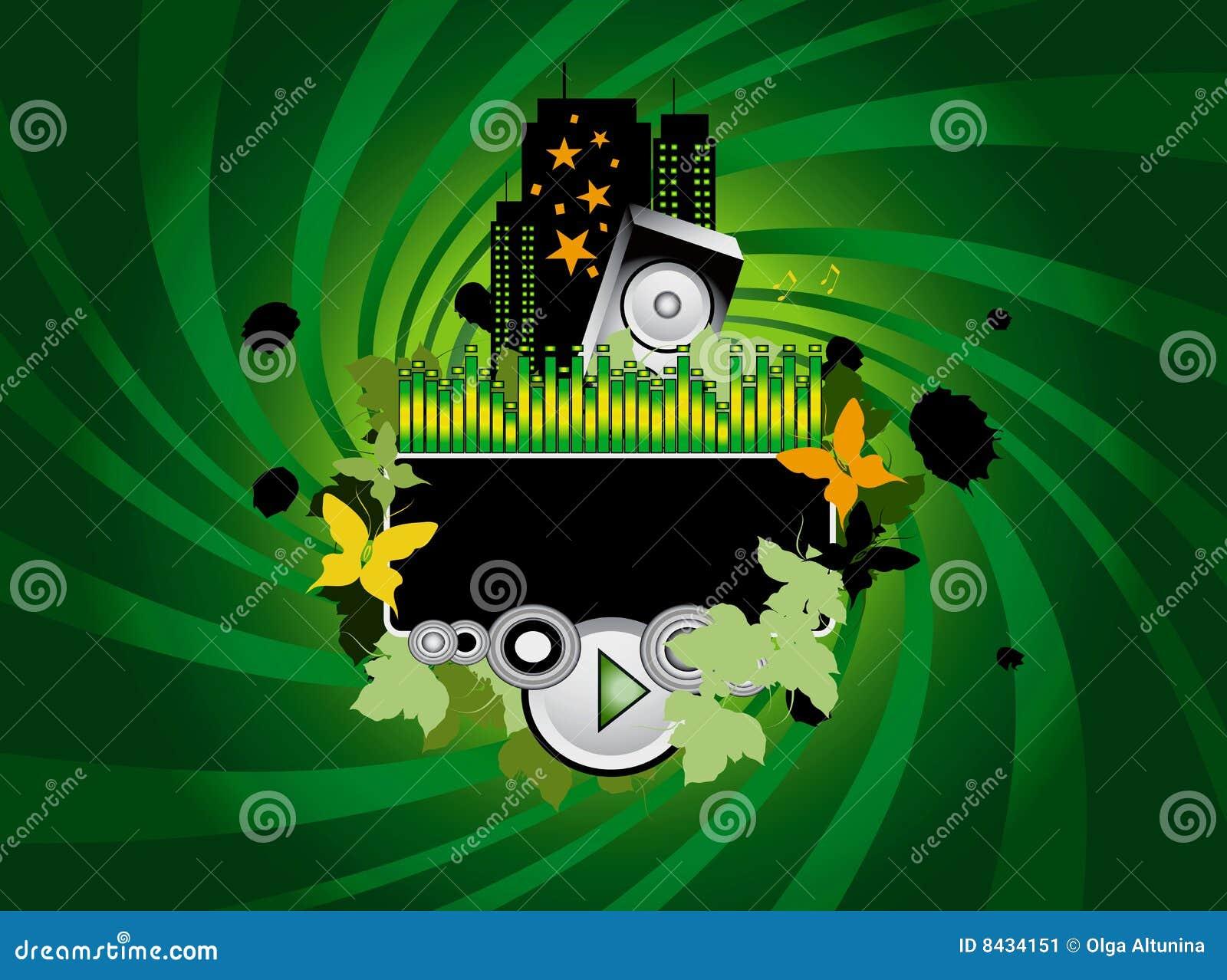 Green Music Background