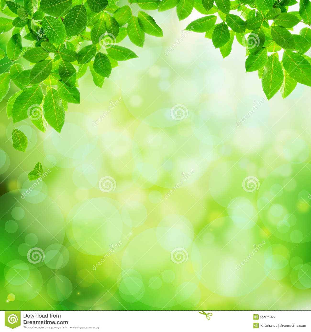 Green Natural Abstract Background Stock Illustration Illustration