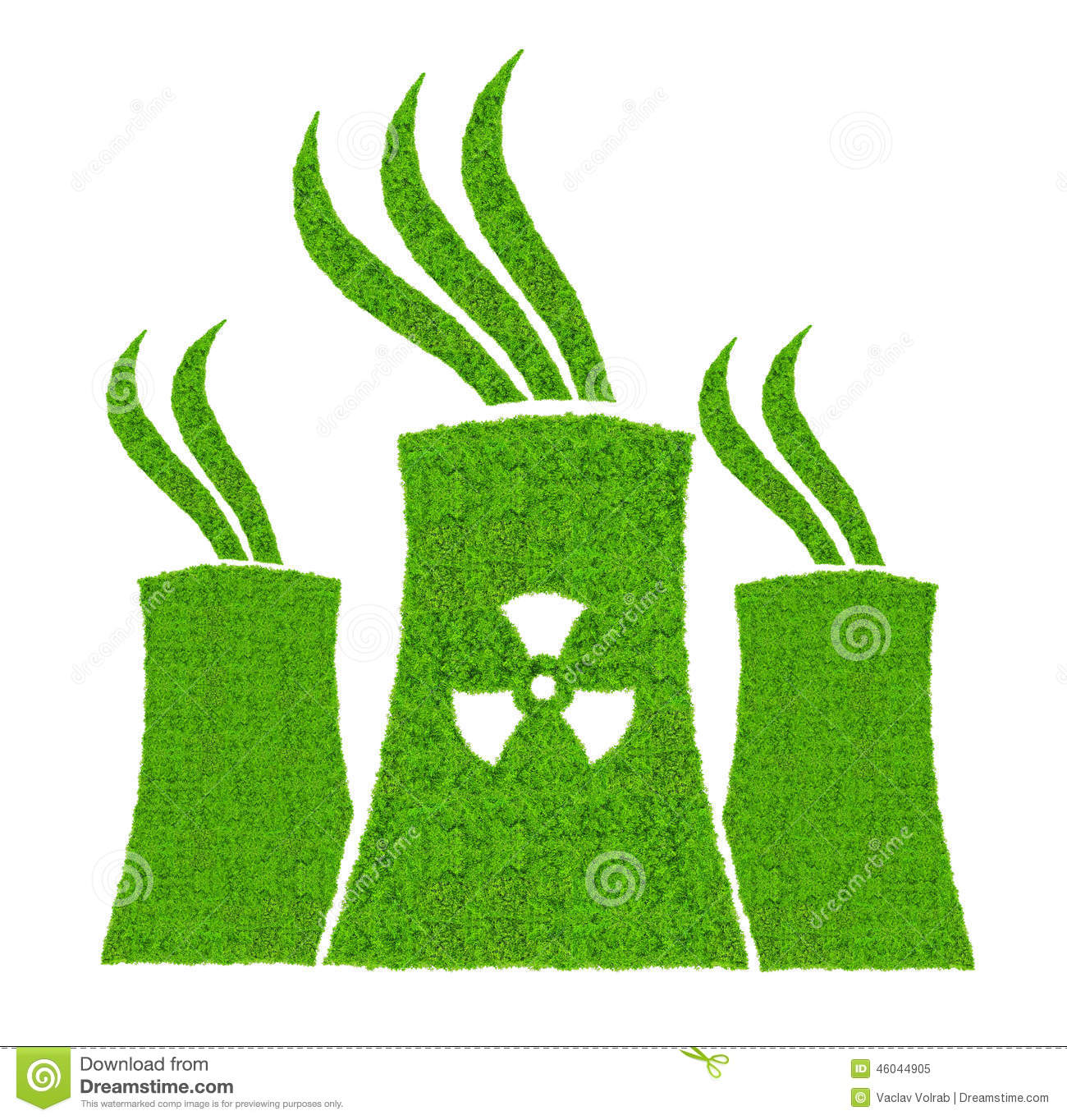 Green Nuclear Power Plant Icon Stock Image Image 46044905