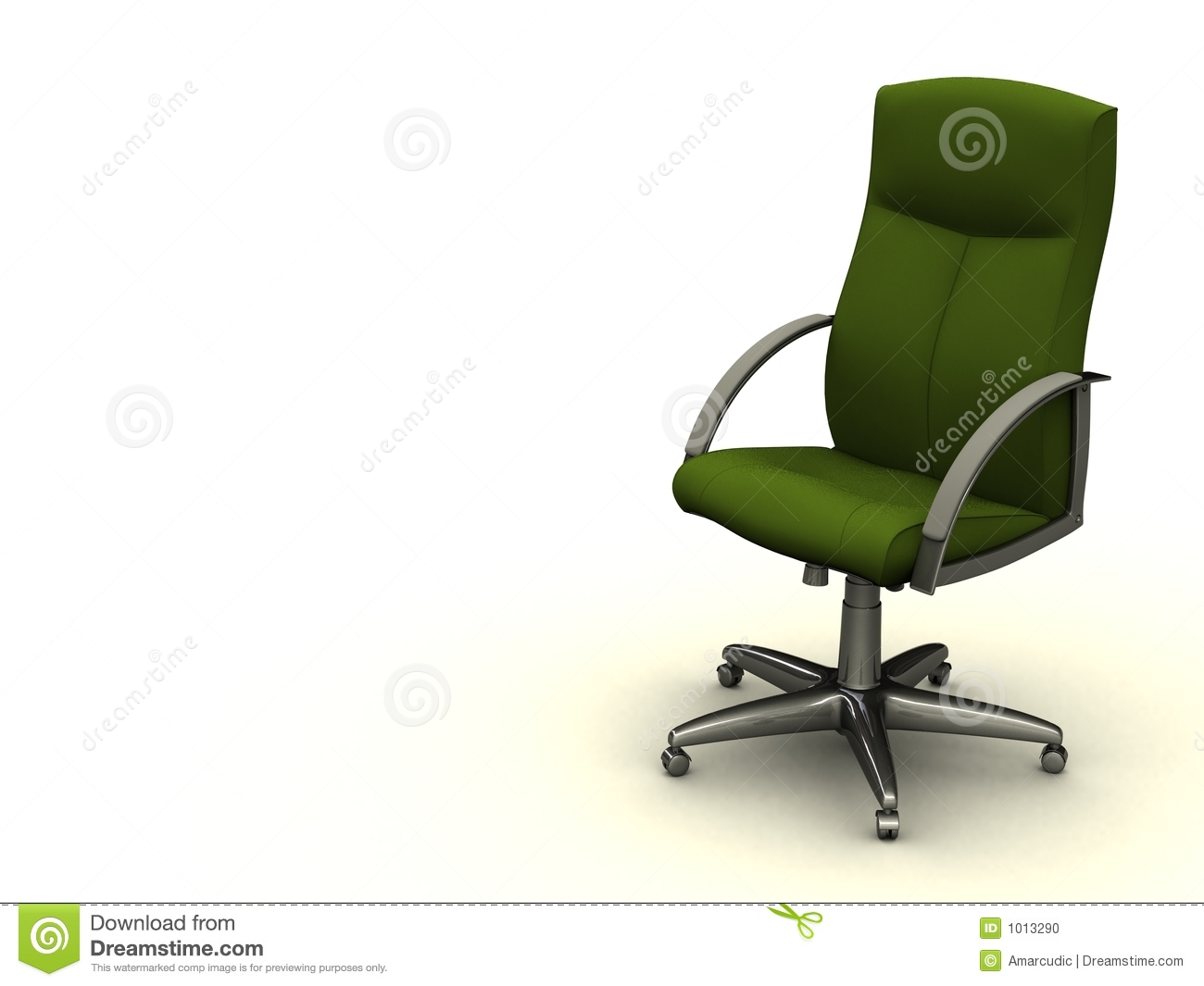 GREEN fice Chair Stock Image