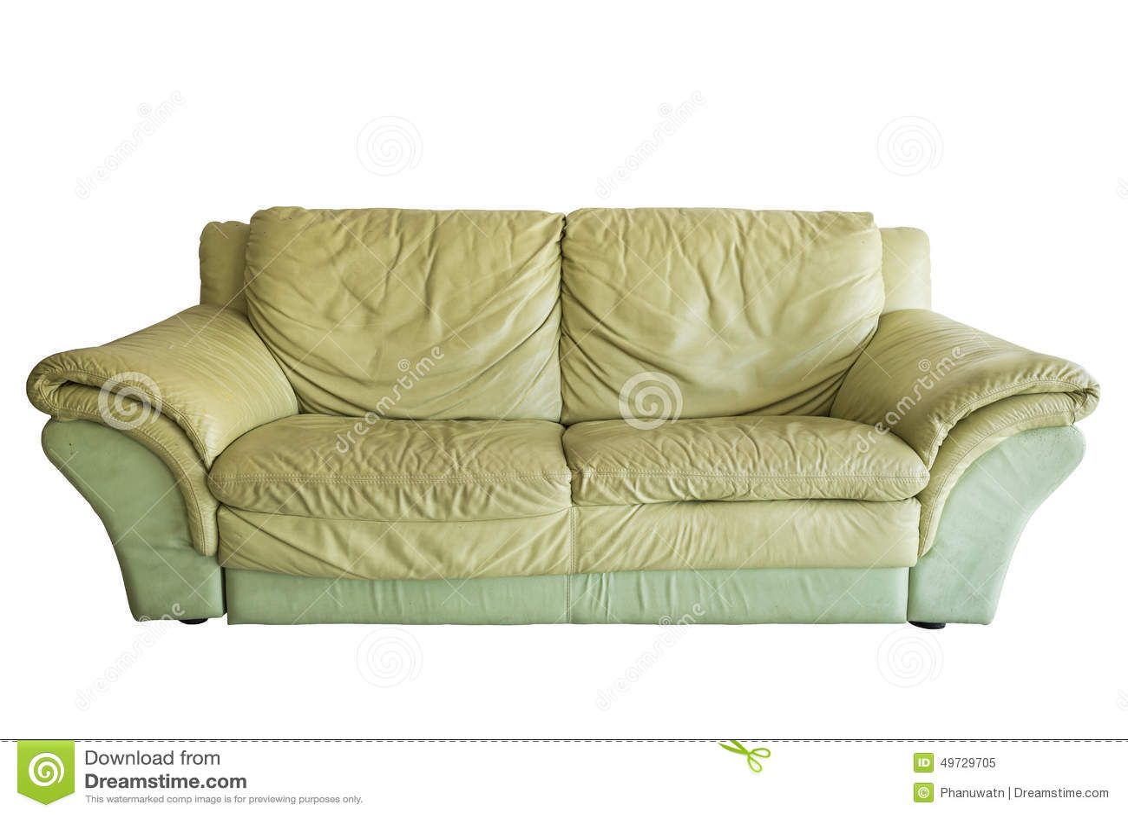 Old Sofa Green Old Sofa Stock Photo Image 49729705