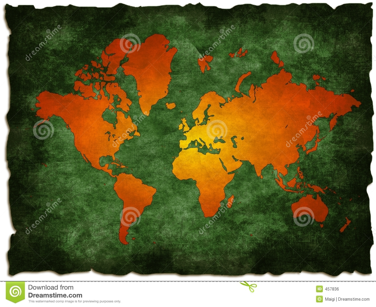 Green old world map stock illustration illustration of antarctic green old world map royalty free stock photo gumiabroncs Choice Image
