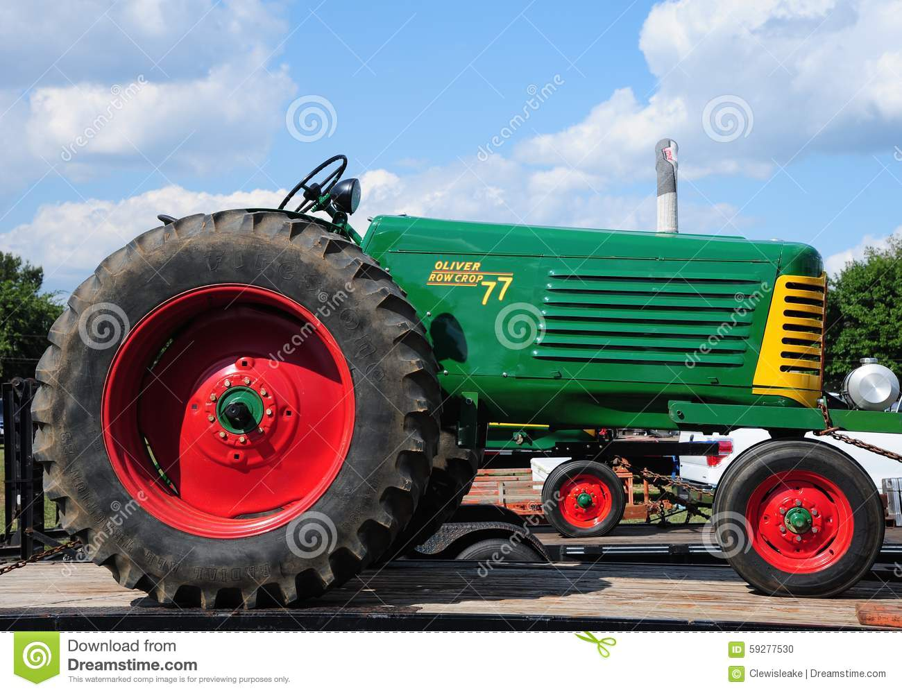 Oliver 77 Antique Farm Tractor  Editorial Image